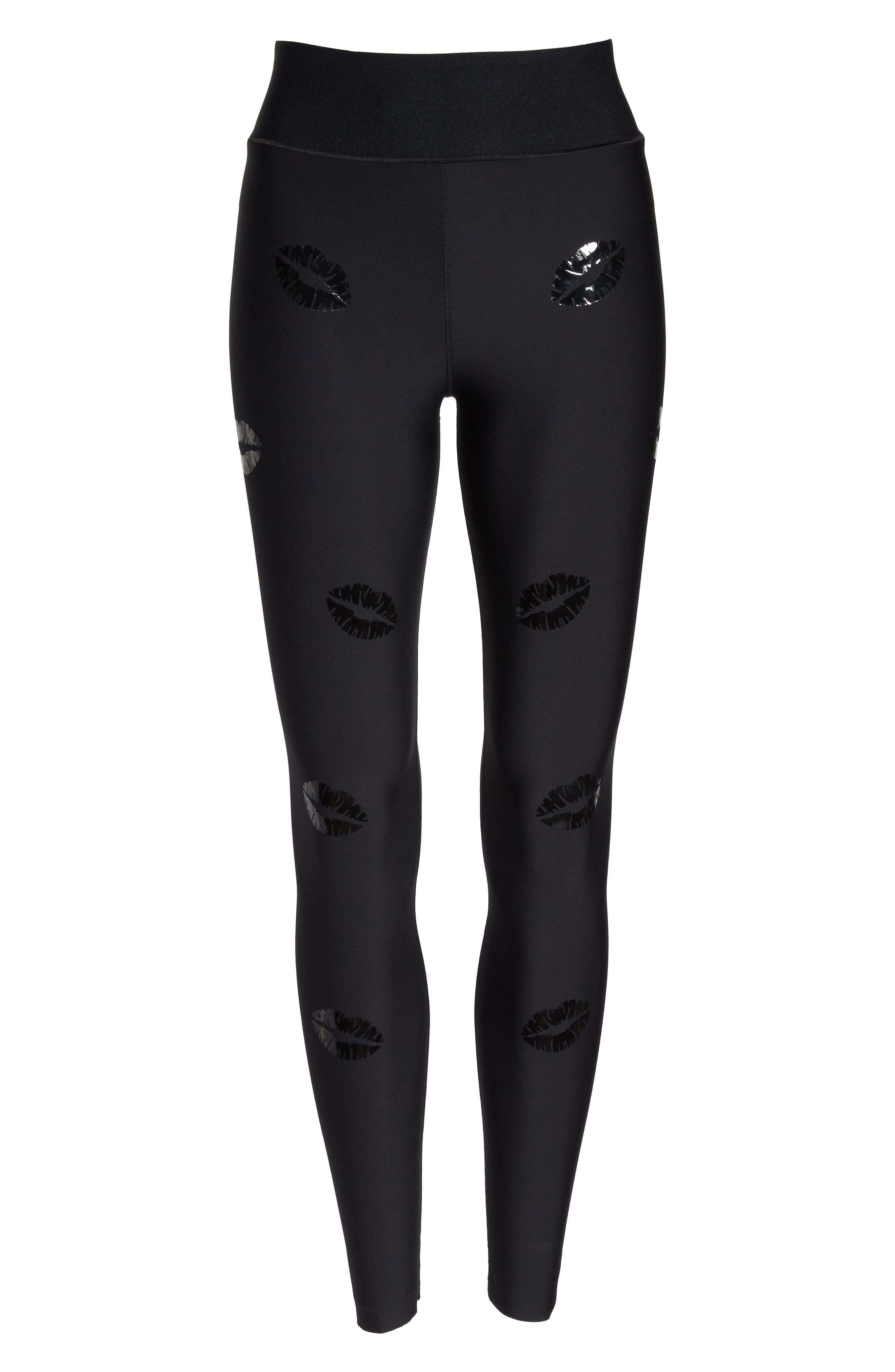 Make Out Lux High Waist Leggings,                             Alternate thumbnail 7, color,                             002