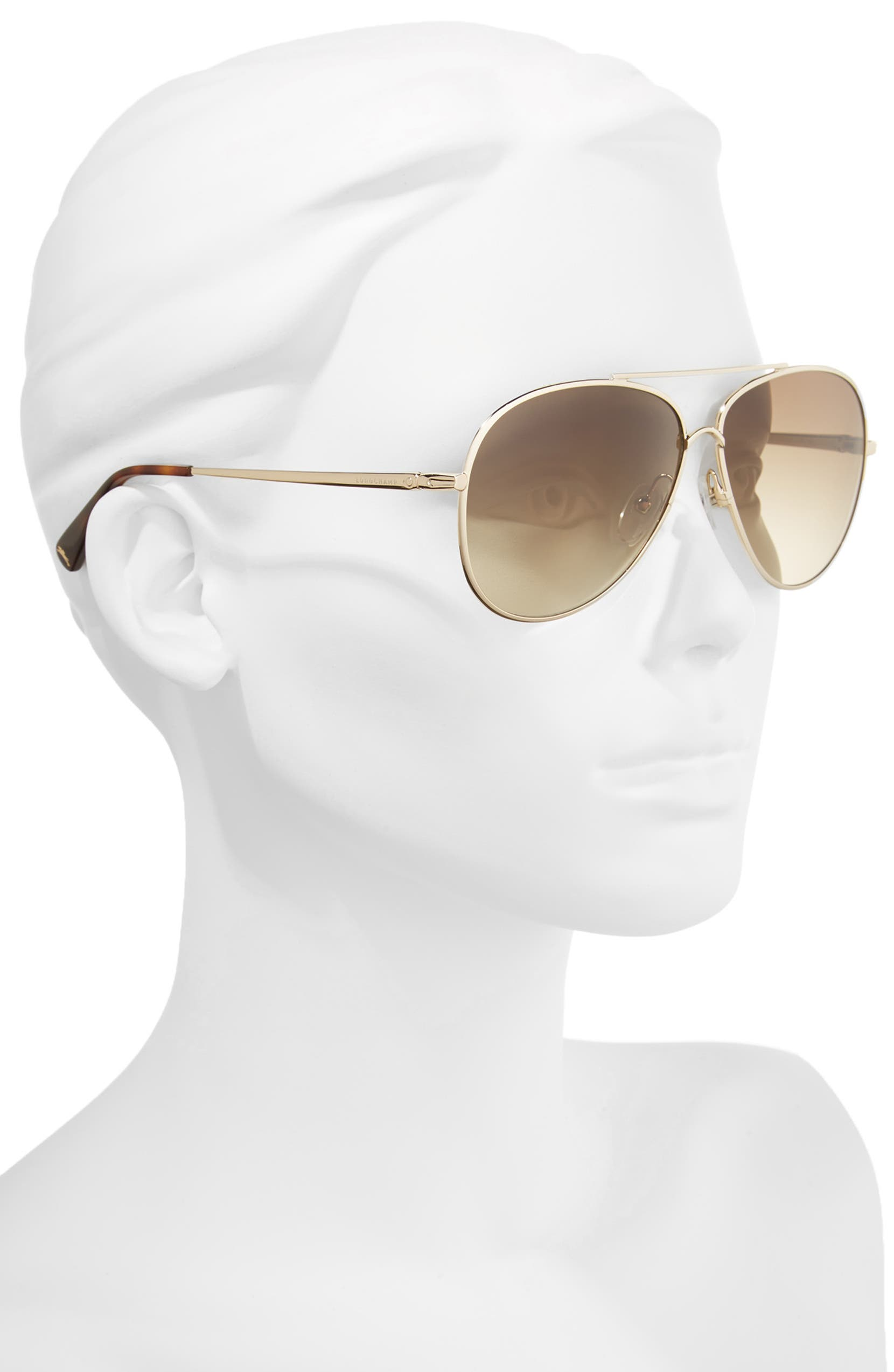 8231c36a13 Longchamp 61mm Gradient Lens Aviator Sunglasses