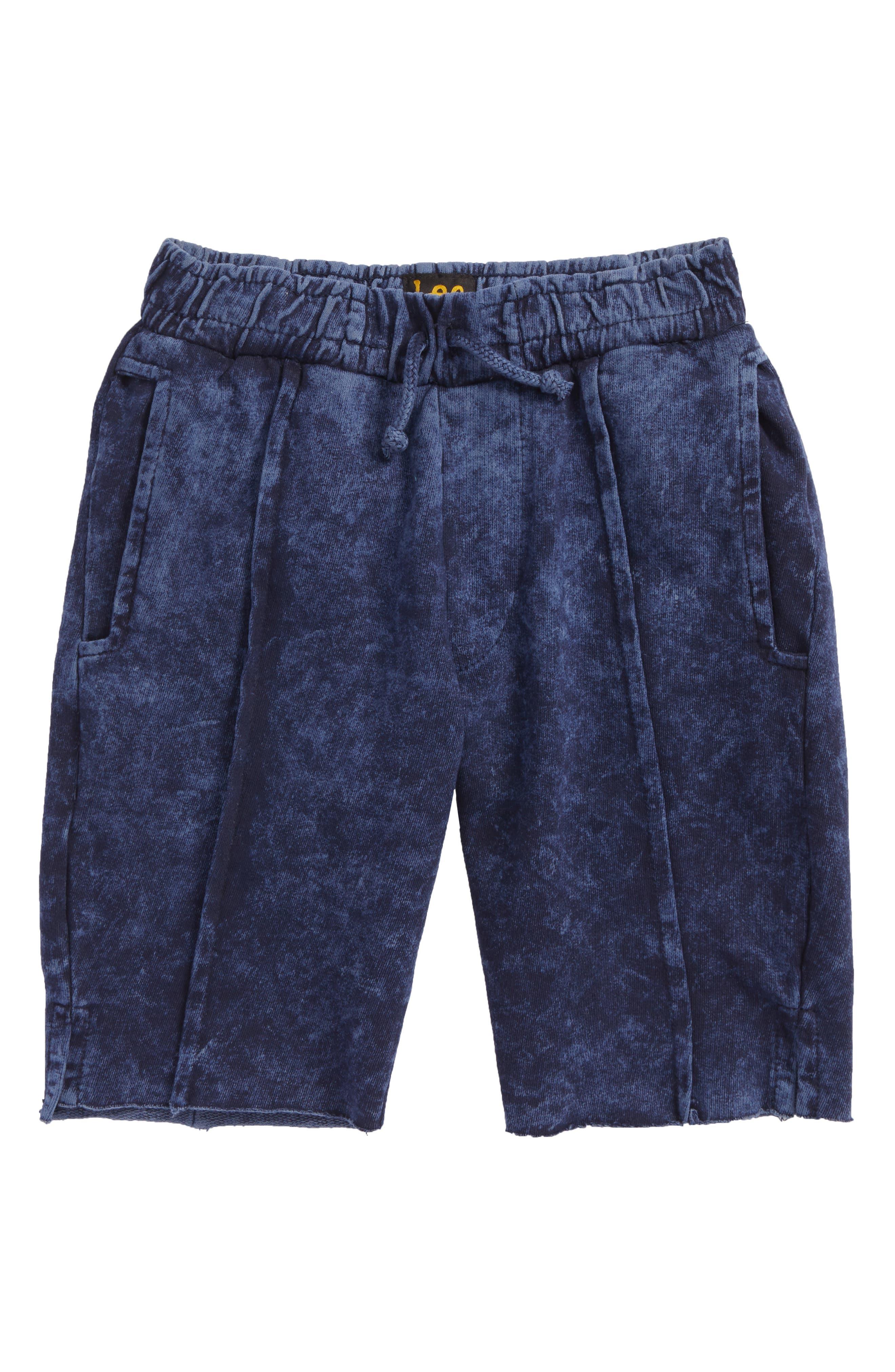 Acid Wash Pull-On Shorts,                         Main,                         color, 412