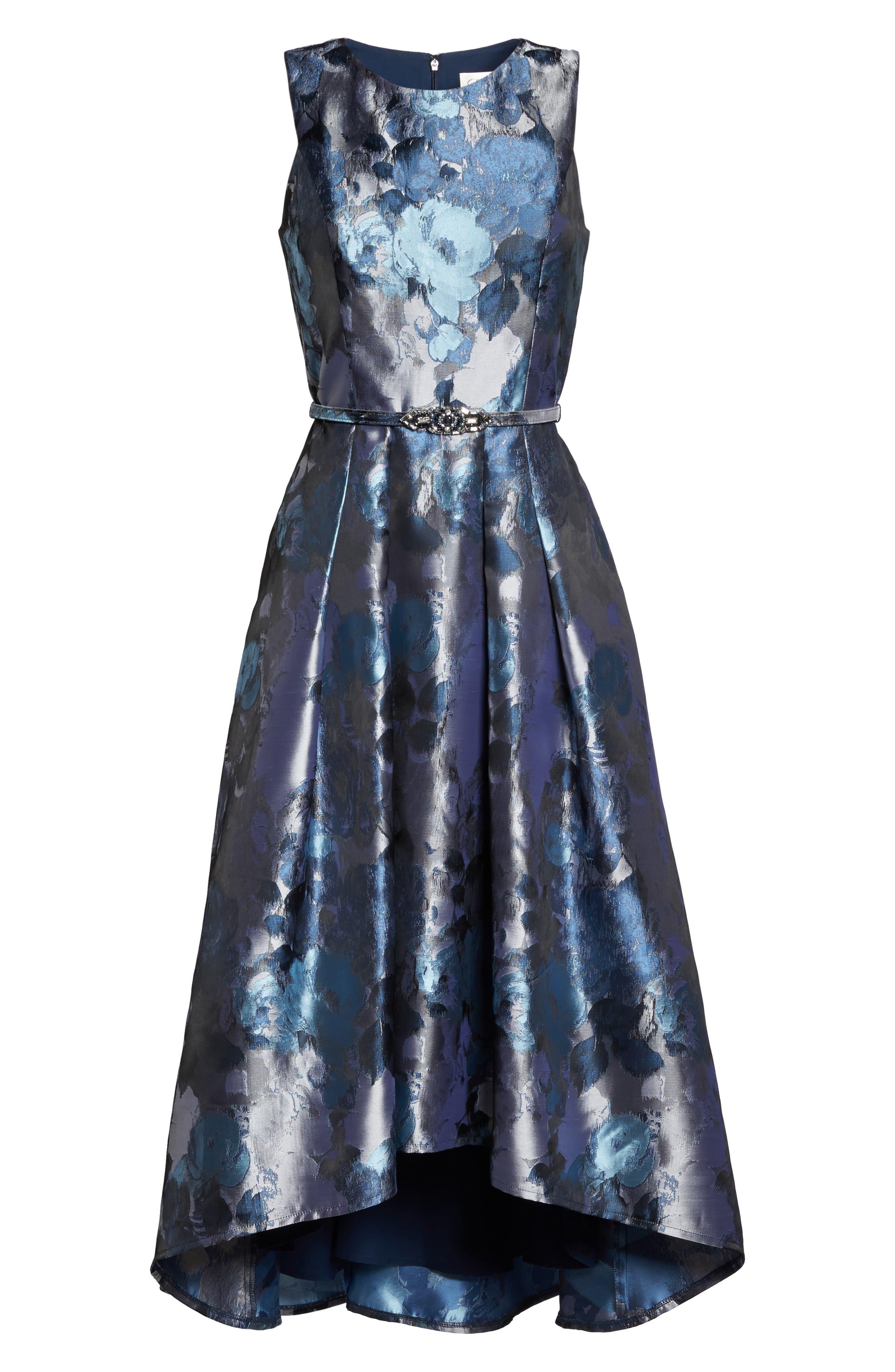 Jacquard High/Low Dress,                             Alternate thumbnail 6, color,                             419