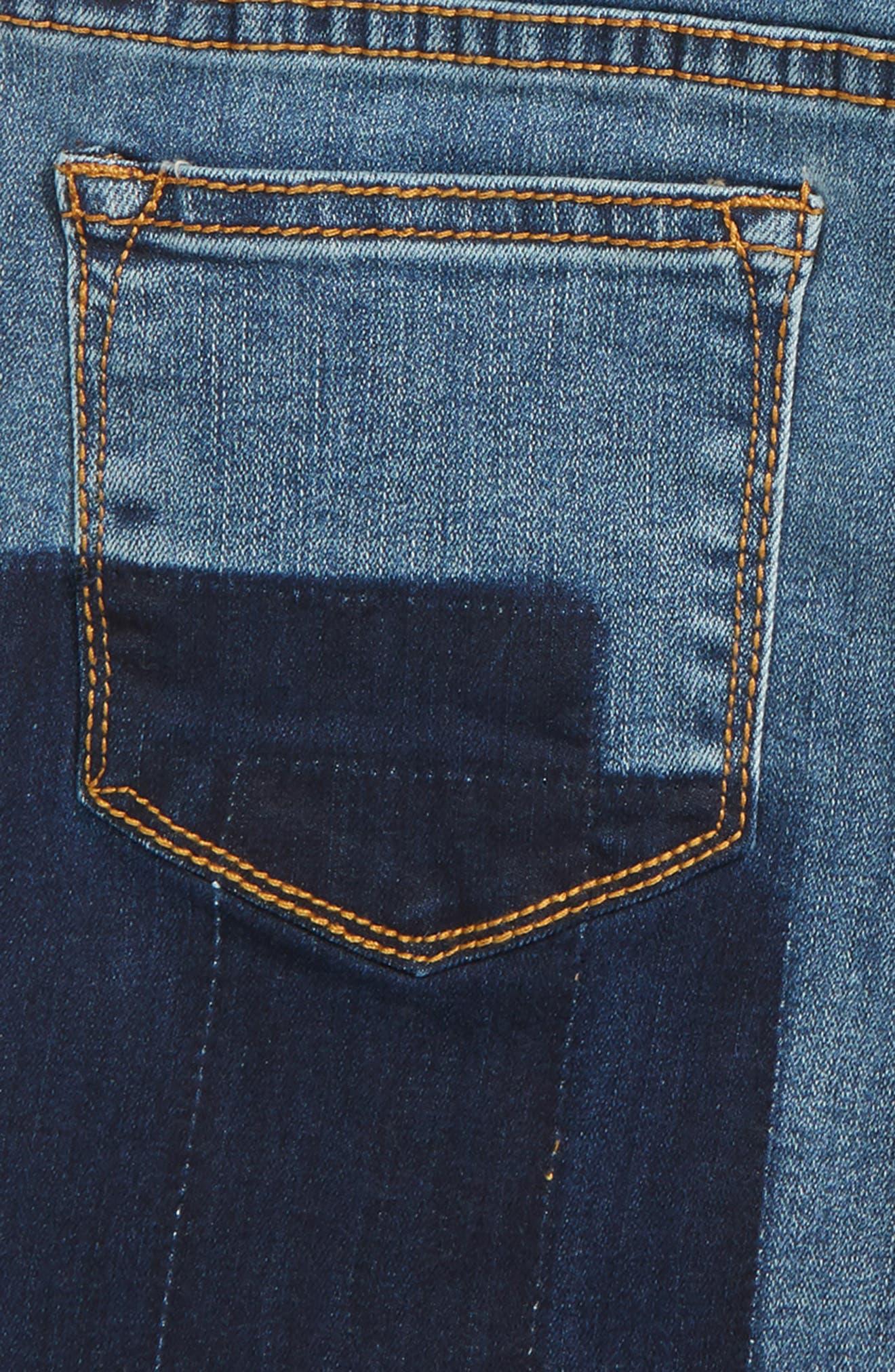 Shadow Frayed Cutoff Denim Shorts,                             Alternate thumbnail 3, color,                             426