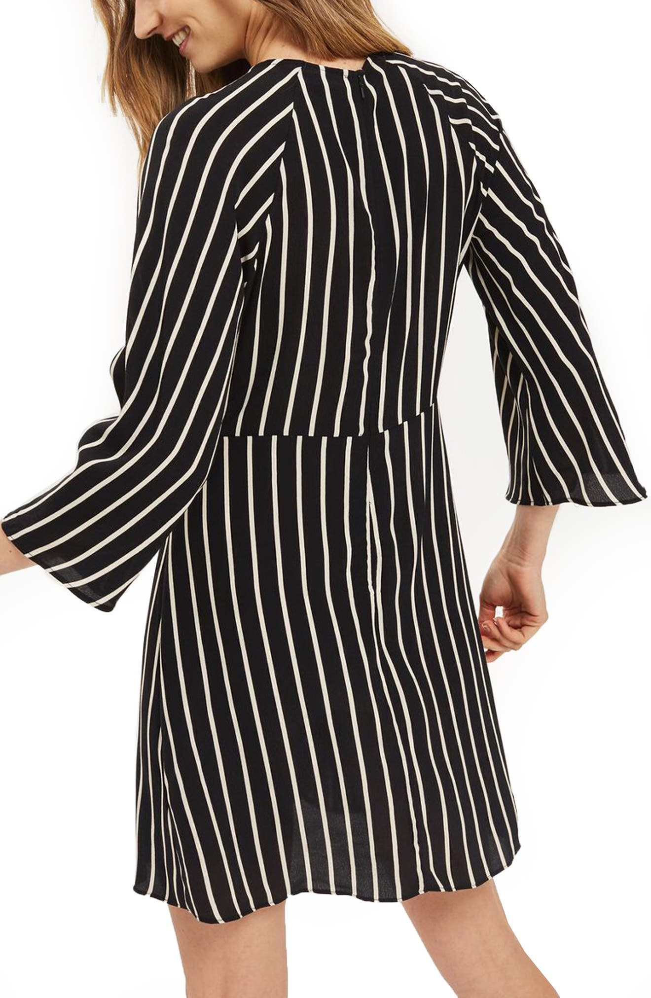 Stripe Knot Front Minidress,                             Alternate thumbnail 3, color,