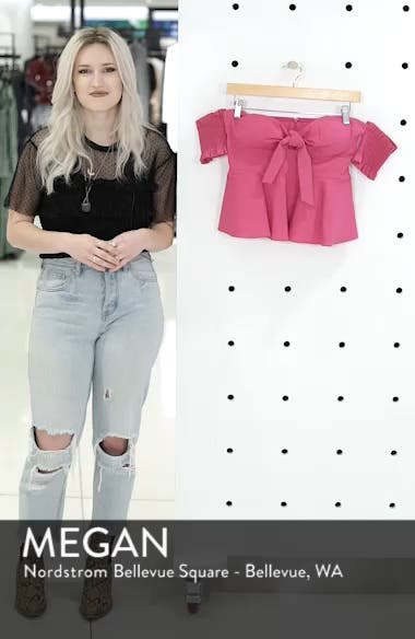 Smocked Off the Shoulder Top, sales video thumbnail