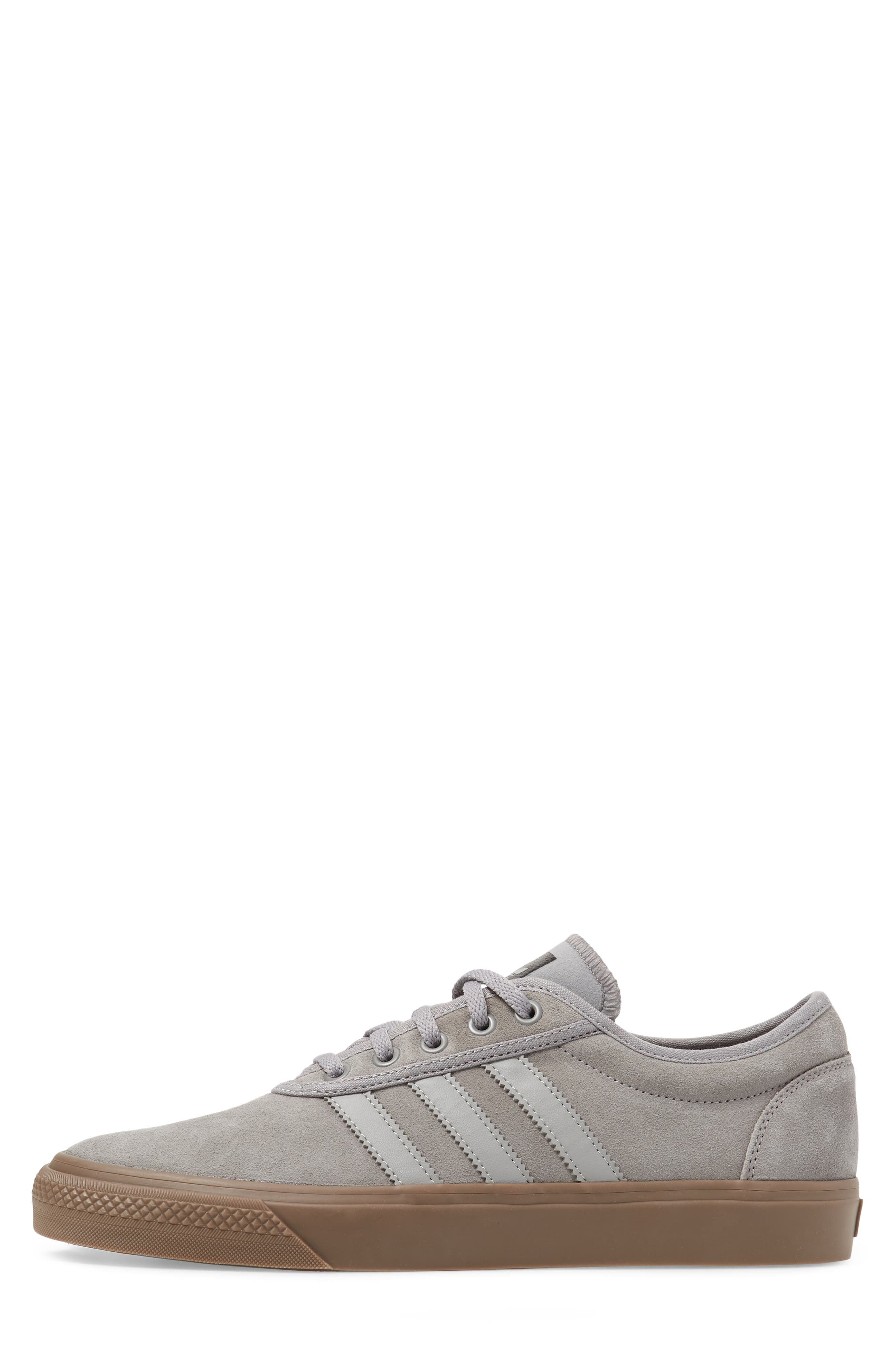 Adiease Skate Sneaker,                             Alternate thumbnail 3, color,                             SOLID GREY/ SOLID GREY/ GUM