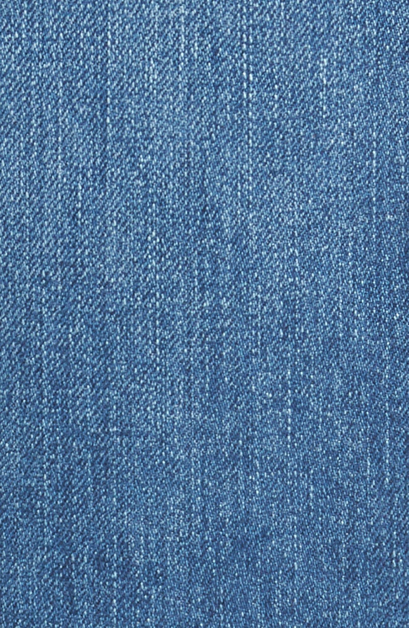 Graduate Slim Straight Leg Jeans,                             Alternate thumbnail 5, color,                             DEMOLITION