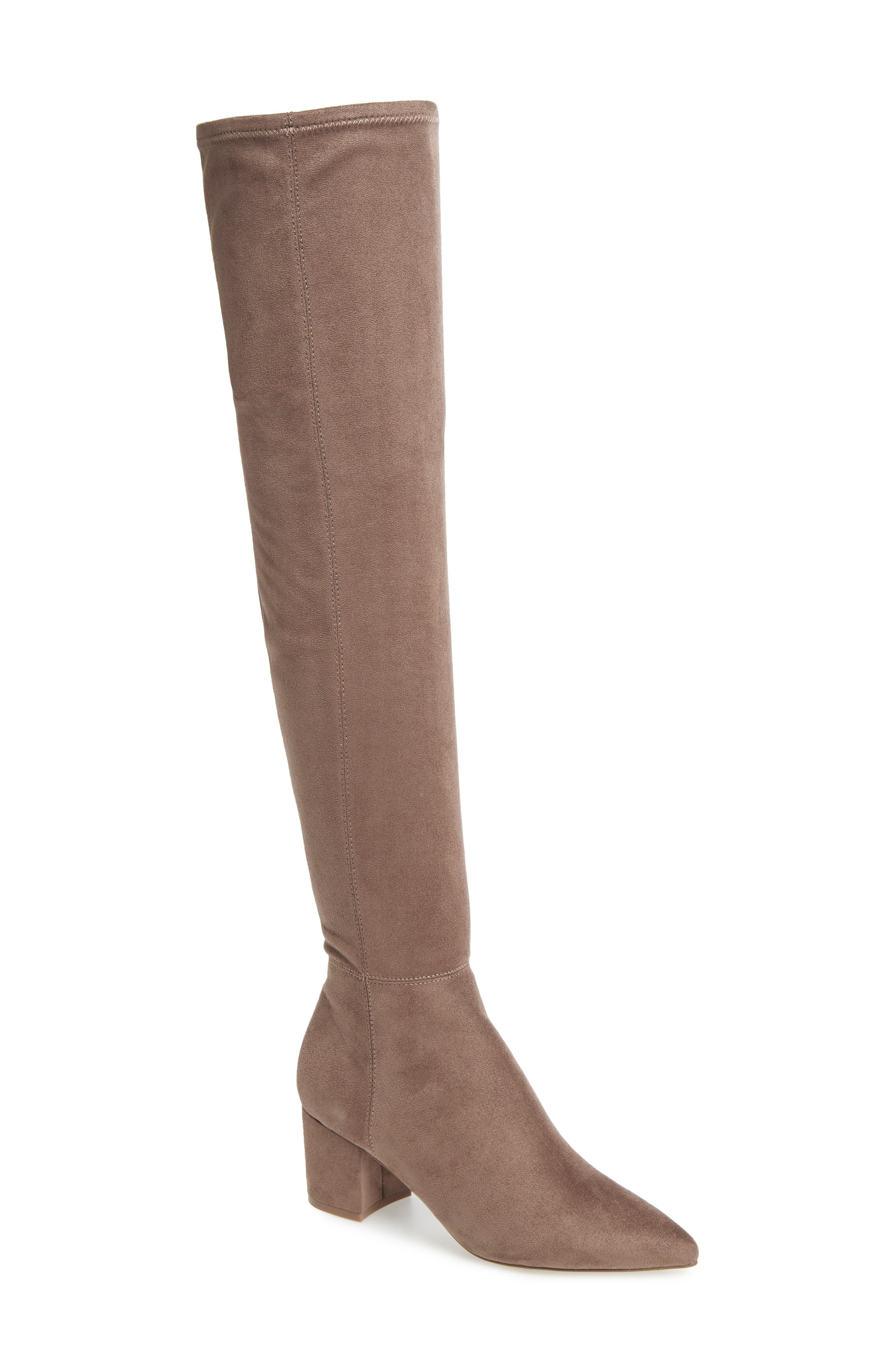 Brinkley Over the Knee Stretch Boot,                         Main,                         color, TAUPE