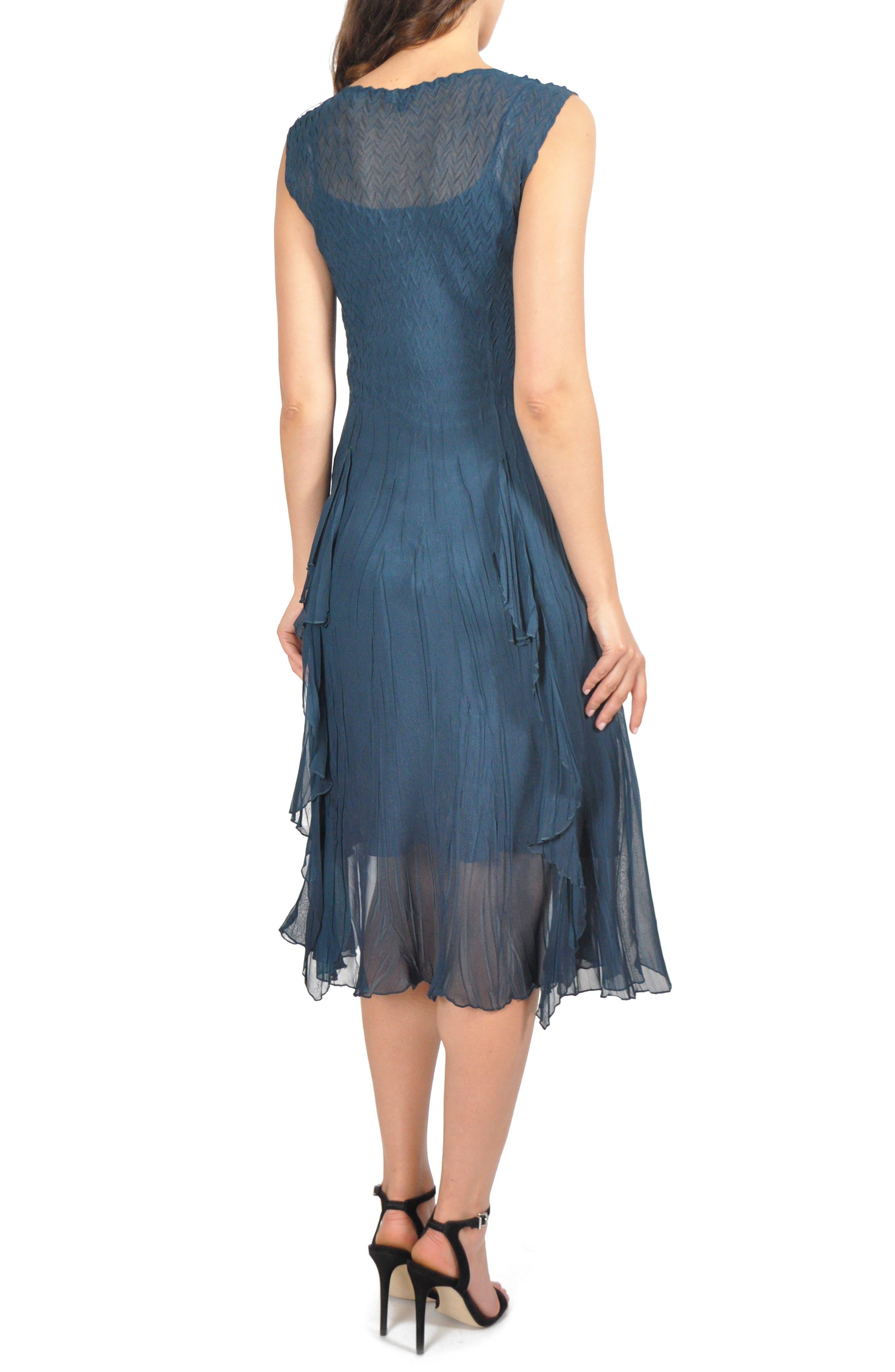 KOMAROV,                             Ruffle Midi Dress,                             Alternate thumbnail 2, color,                             420