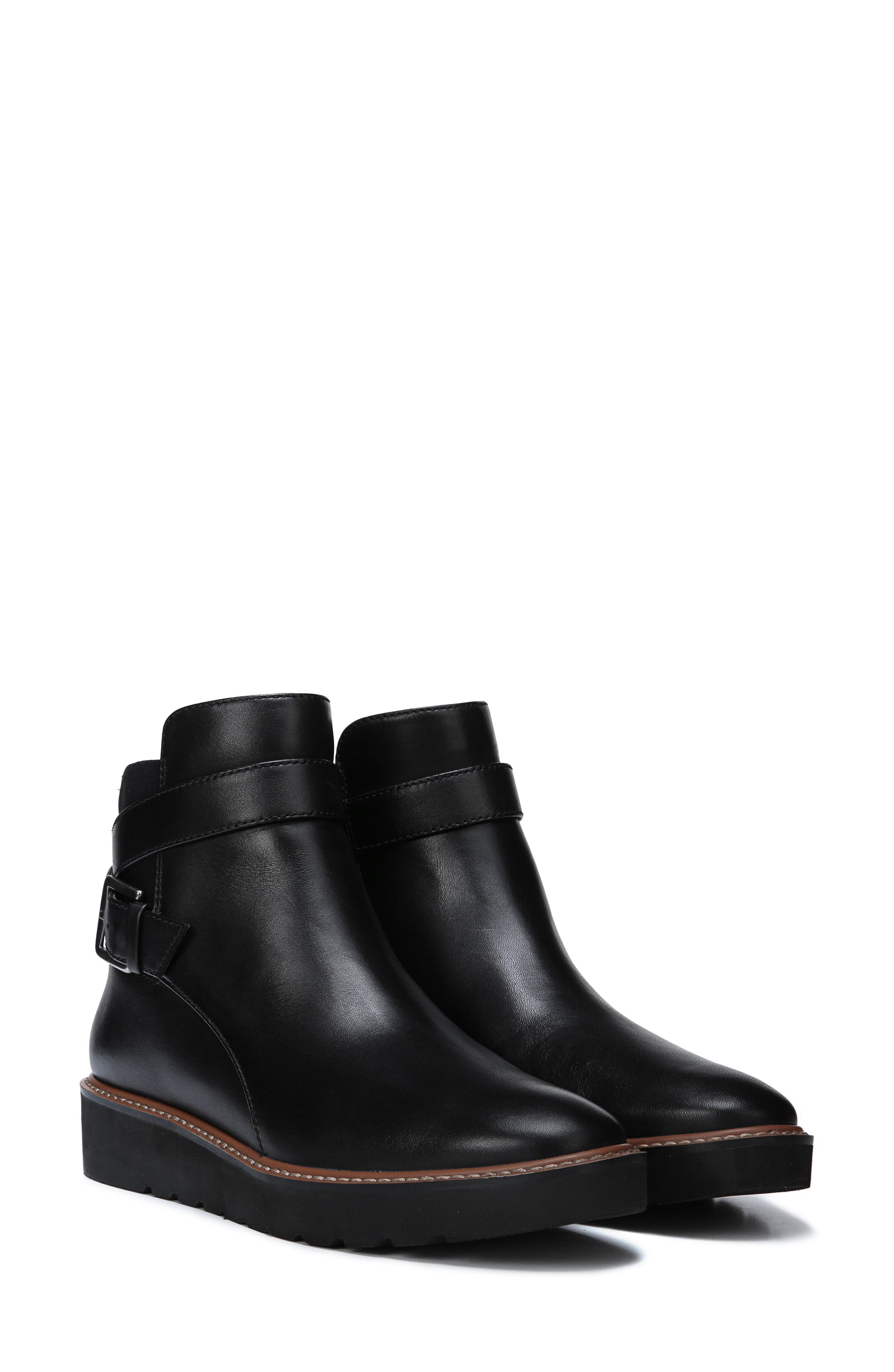 NATURALIZER,                             Aster Bootie,                             Alternate thumbnail 6, color,                             BLACK LEATHER