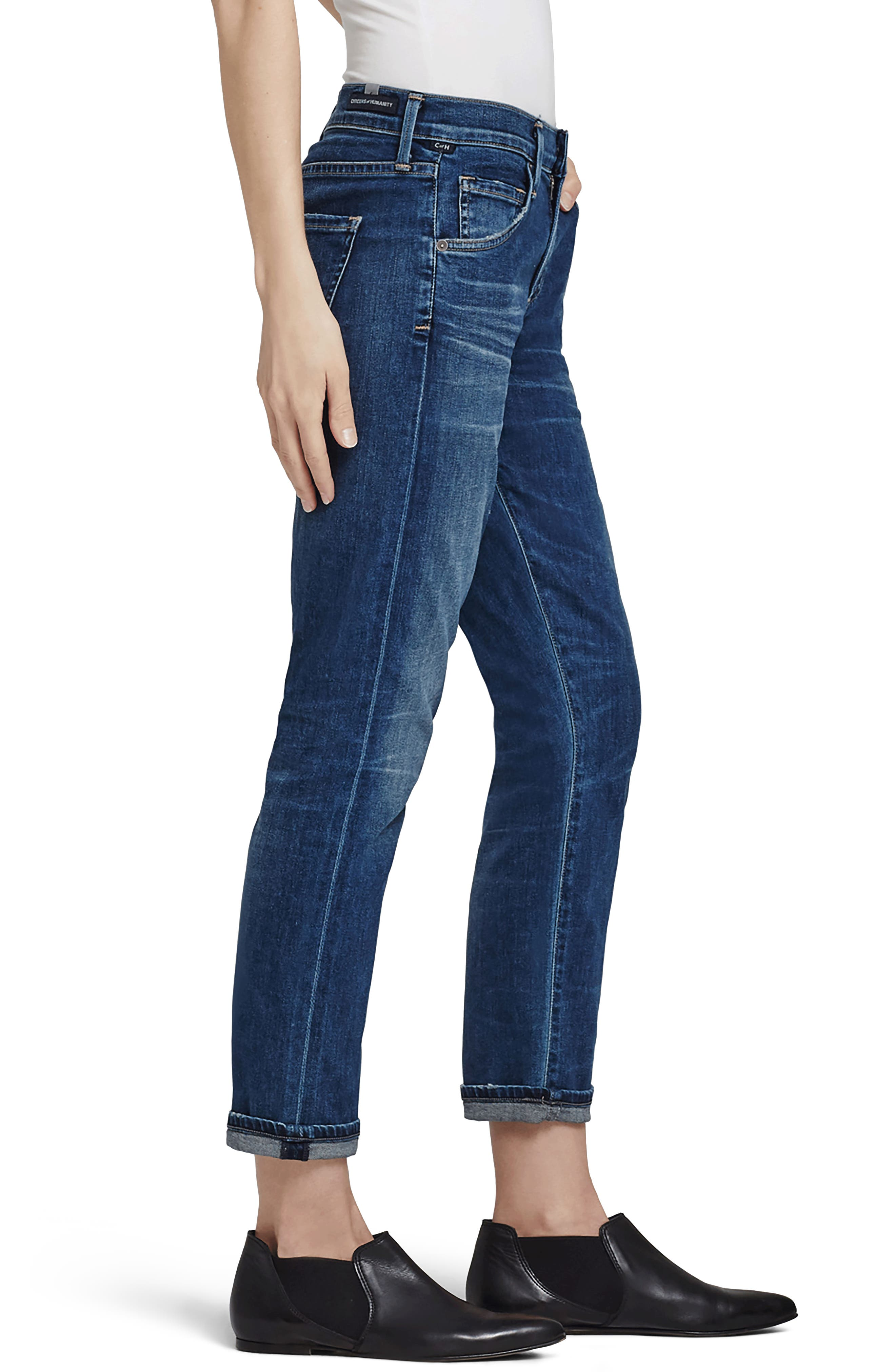 Emerson Slim Boyfriend Jeans,                             Alternate thumbnail 3, color,                             462