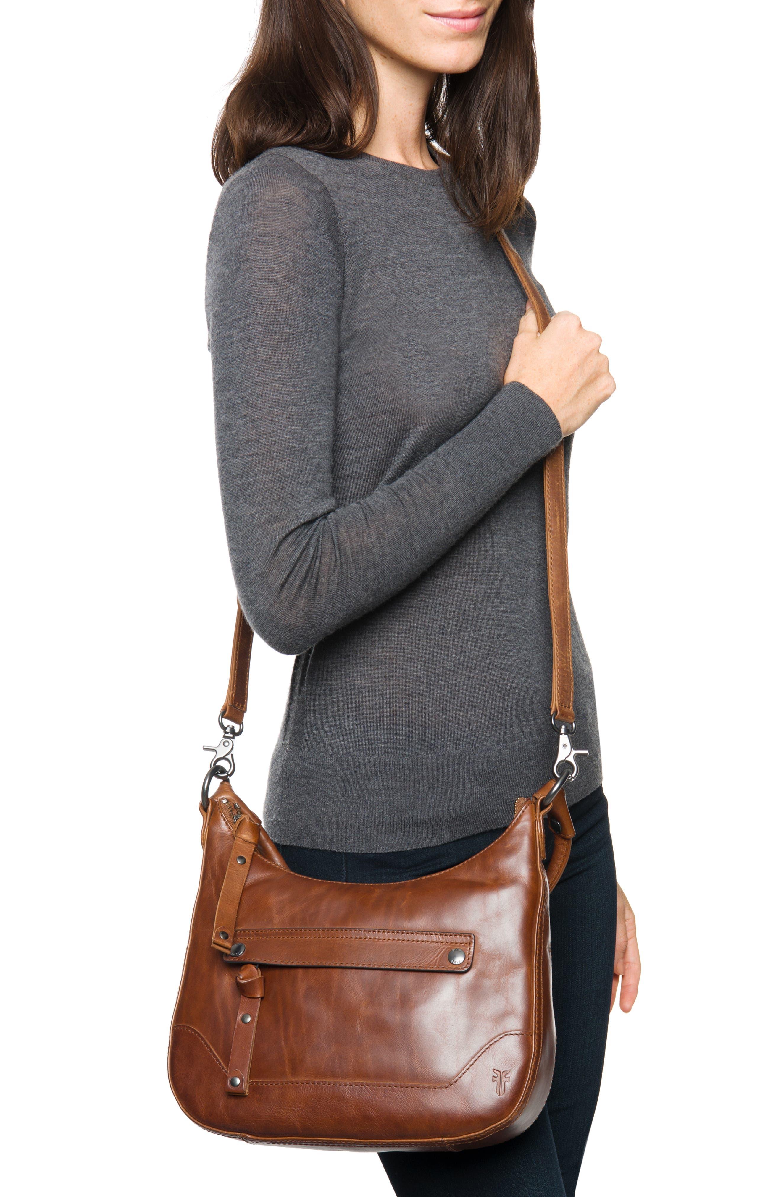 Small Melissa Leather Hobo Bag,                             Alternate thumbnail 3, color,