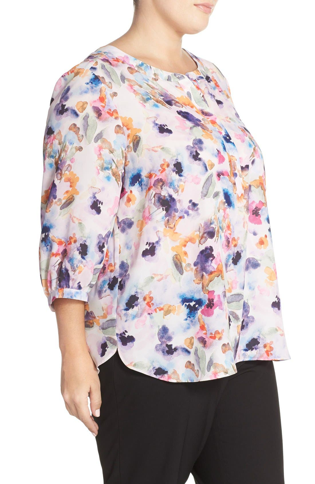 Henley Top,                             Alternate thumbnail 388, color,