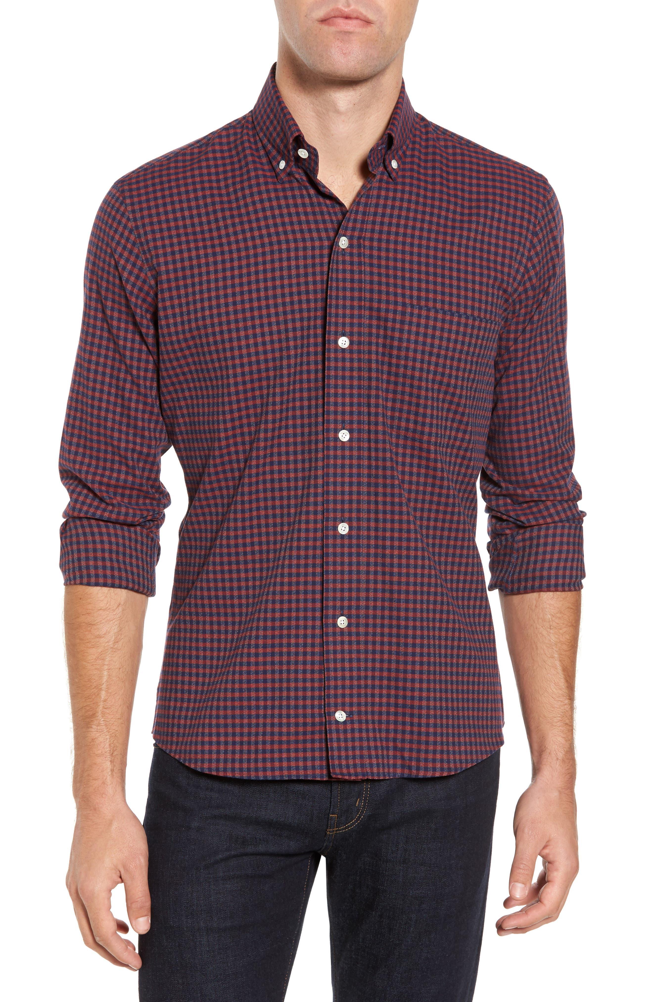 Slim Fit Check Sport Shirt,                         Main,                         color, 600