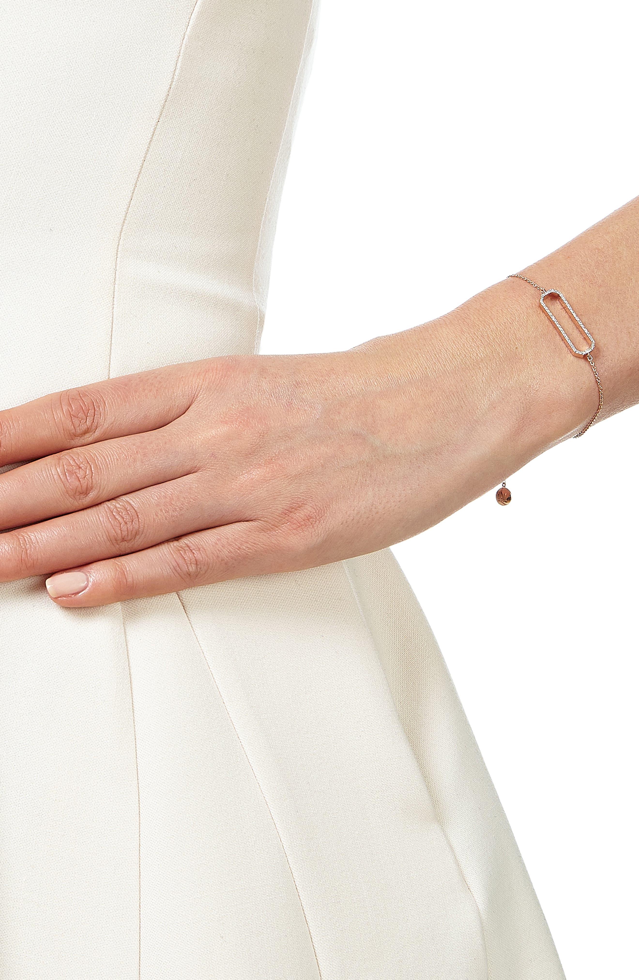 'Naida' Rectangle Charm Bracelet,                             Alternate thumbnail 2, color,                             712