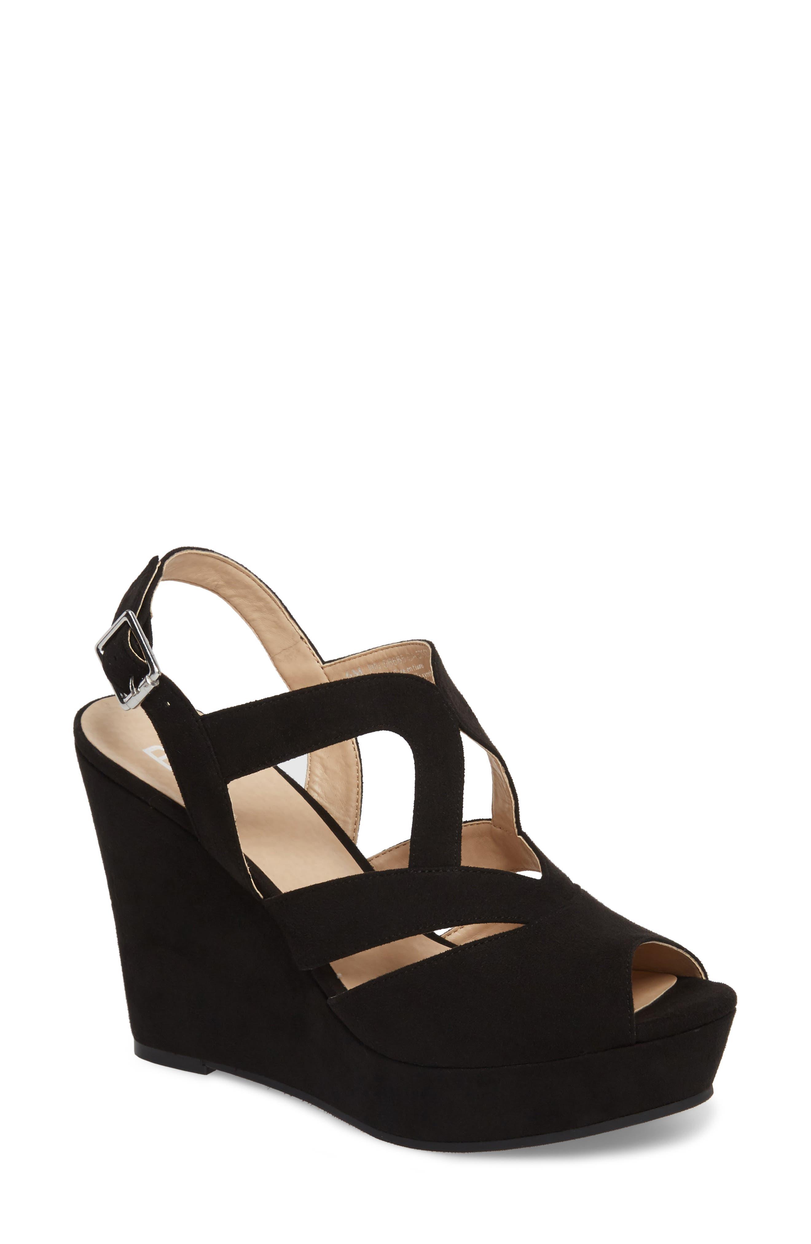 Sunny Platform Wedge Sandal,                             Main thumbnail 1, color,                             001