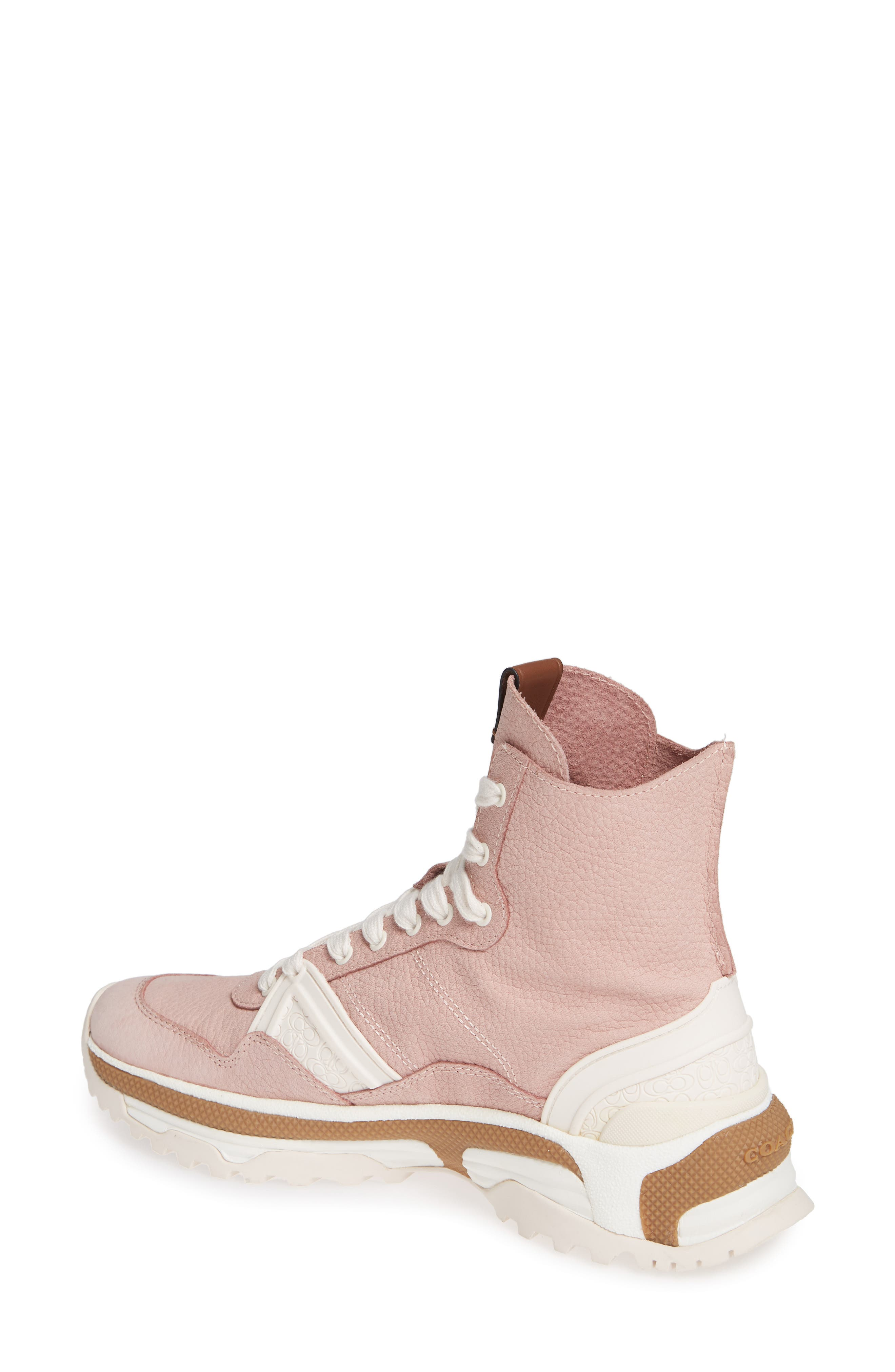 COACH,                             High Top Sneaker,                             Alternate thumbnail 2, color,                             BLUSH PINK NUBUCK LEATHER