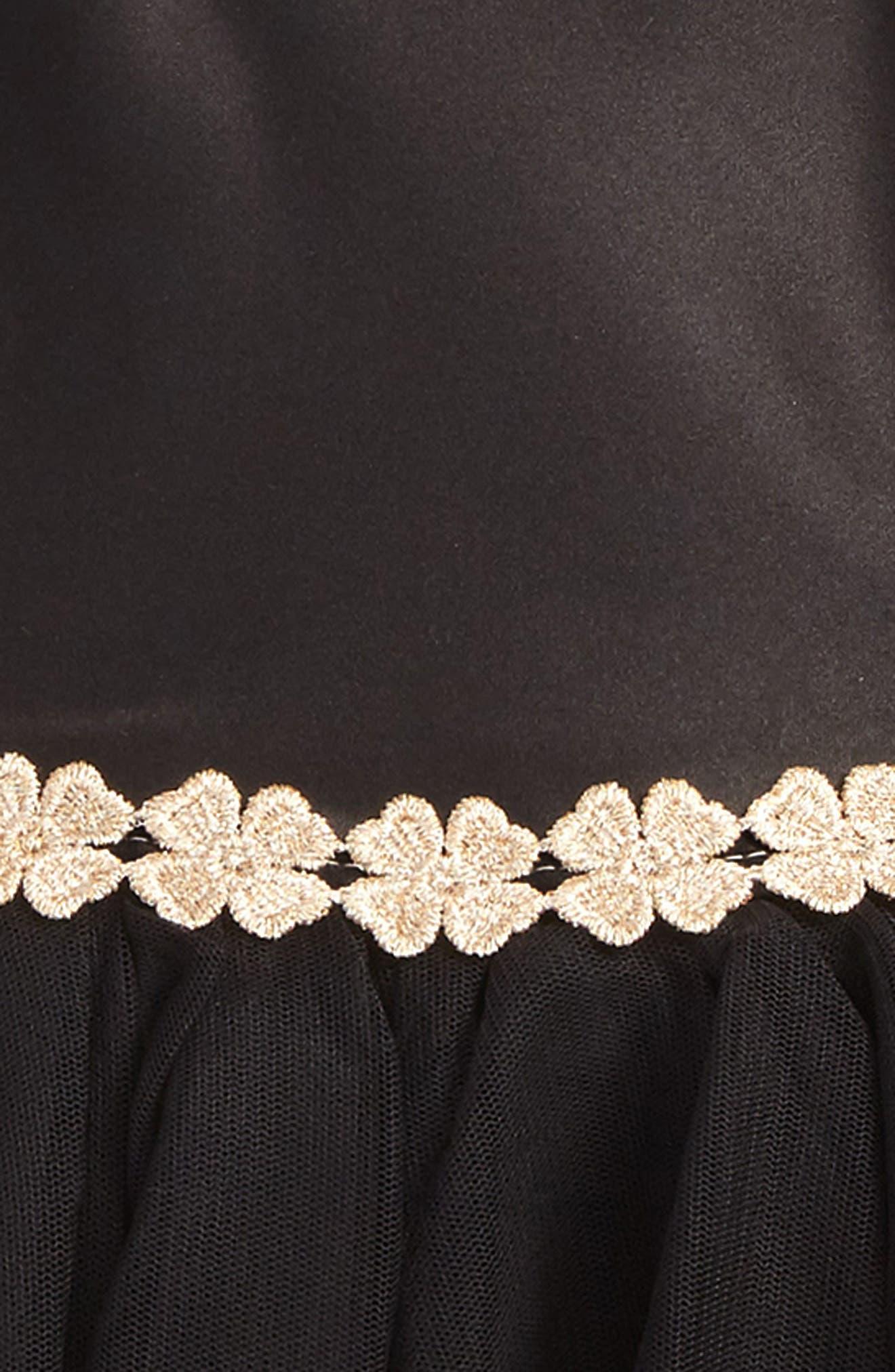 Satin & Tulle Dress,                             Alternate thumbnail 2, color,                             001