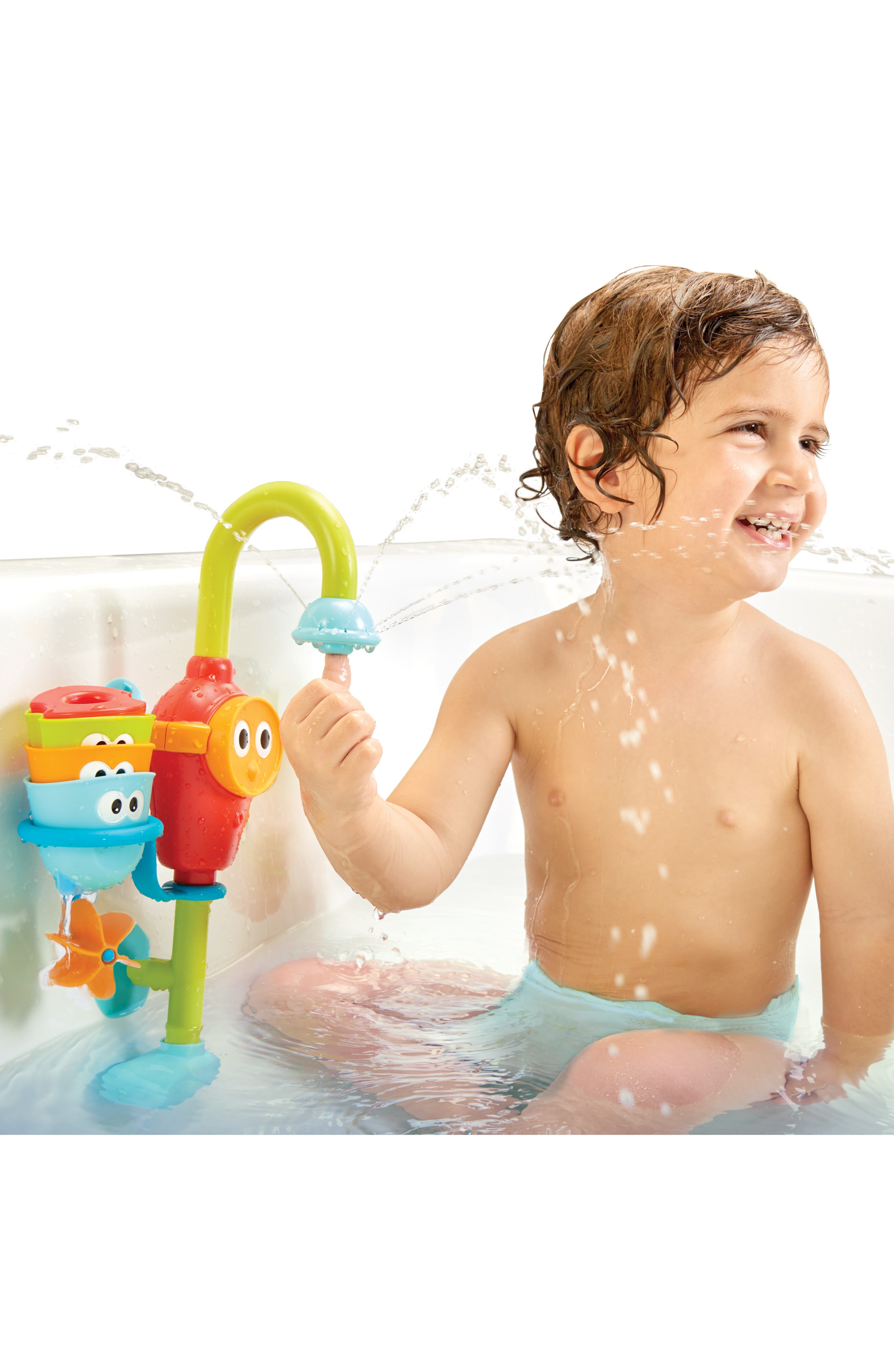 Flow 'N' Fill Spout Bath Toy,                             Alternate thumbnail 5, color,                             GREEN