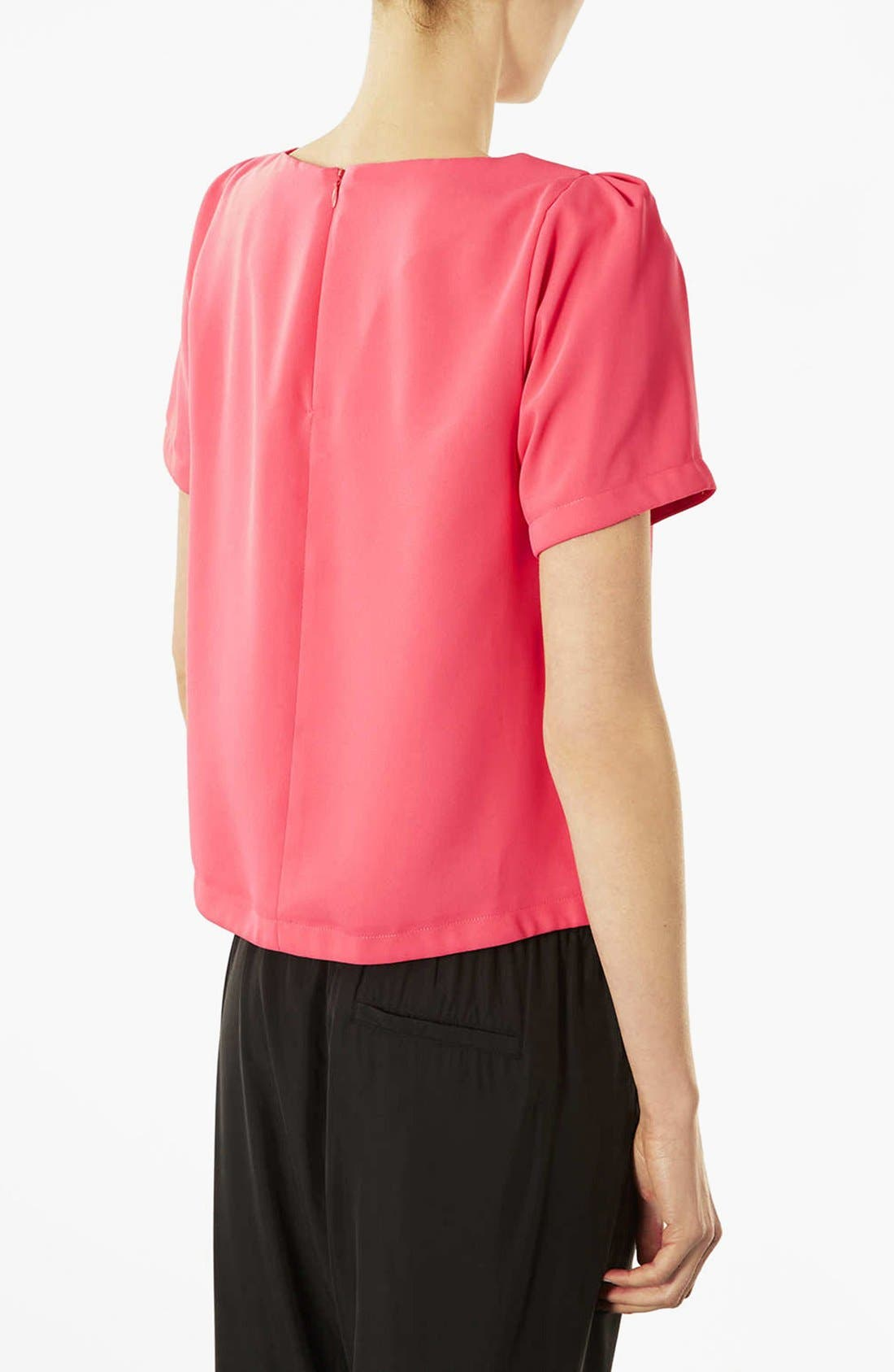 TOPSHOP,                             Tea Blouse,                             Alternate thumbnail 3, color,                             650
