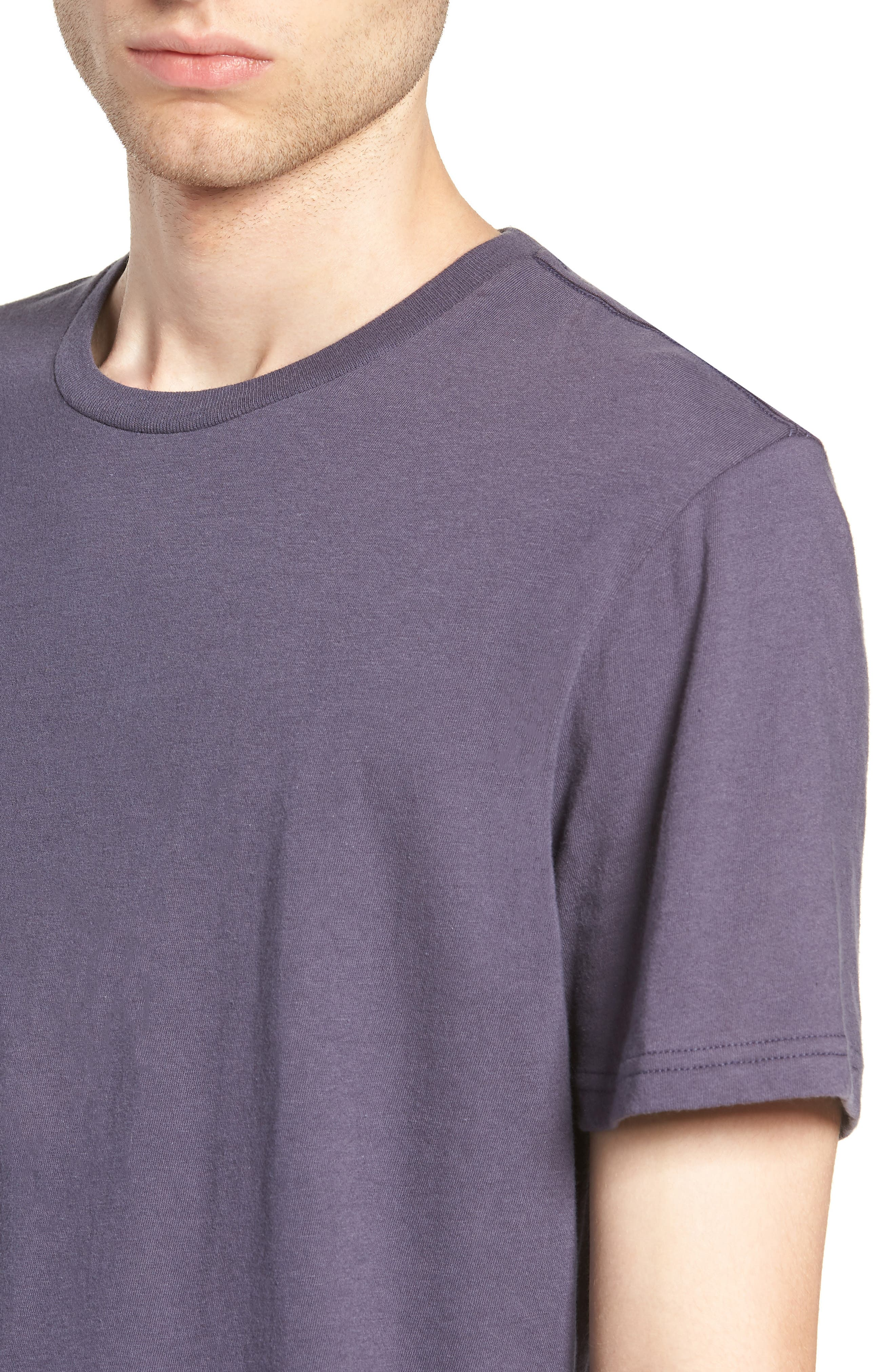 Slim Fit Crewneck T-Shirt,                             Alternate thumbnail 4, color,                             GREY STONE
