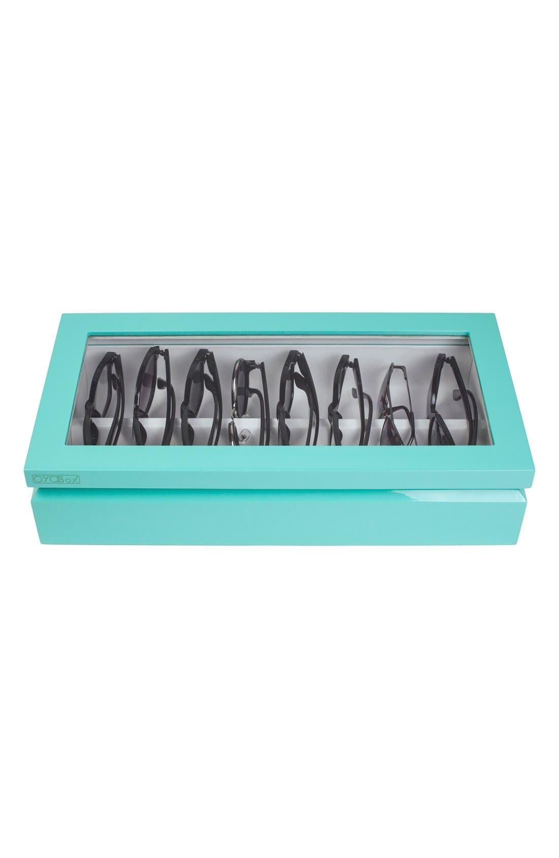Lacquered Wood Window Top Eyewear Organizer Case,                             Alternate thumbnail 15, color,