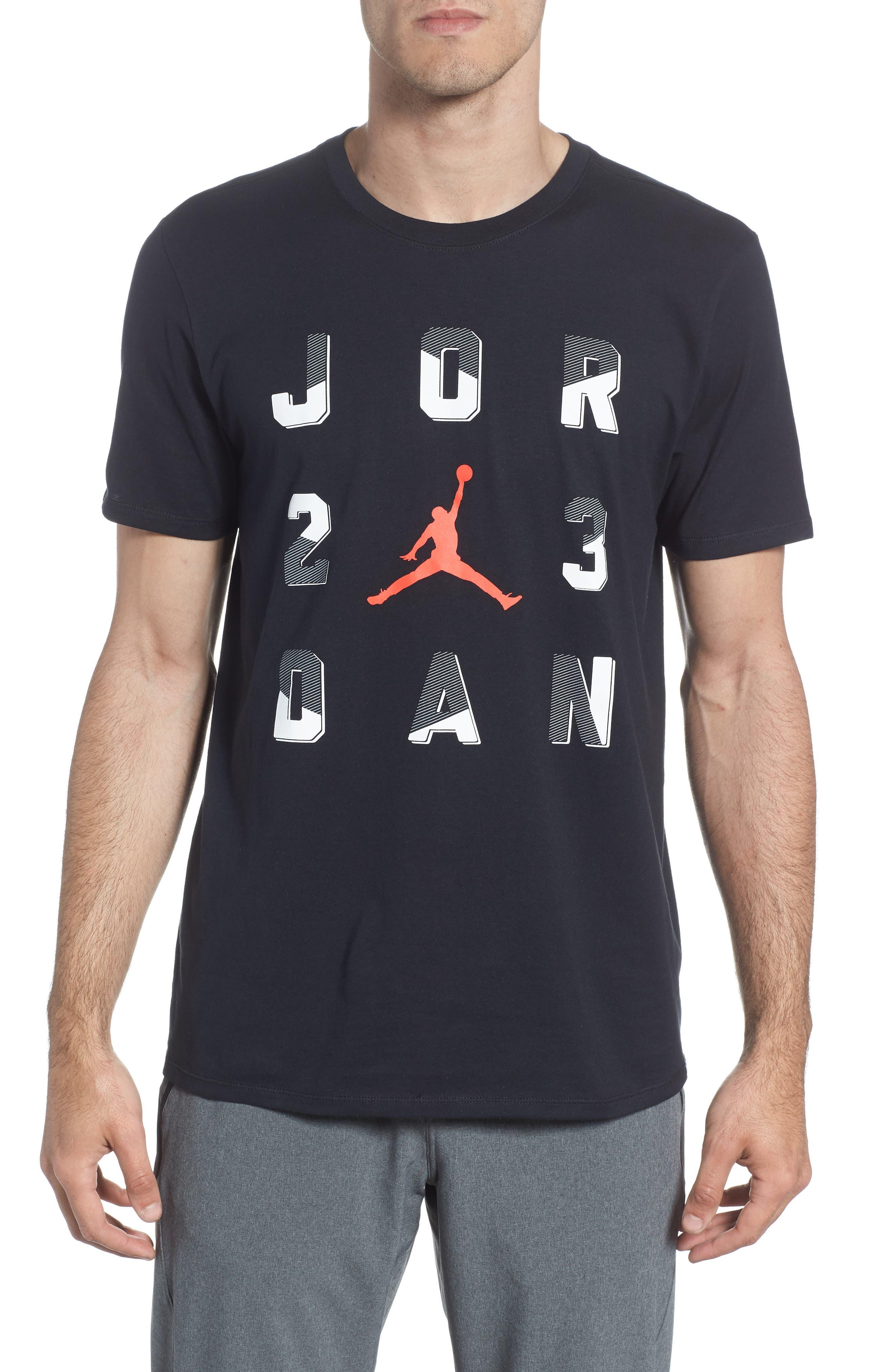 Sportswear 23 T-Shirt,                             Main thumbnail 1, color,                             BLACK/ INFRARED 23