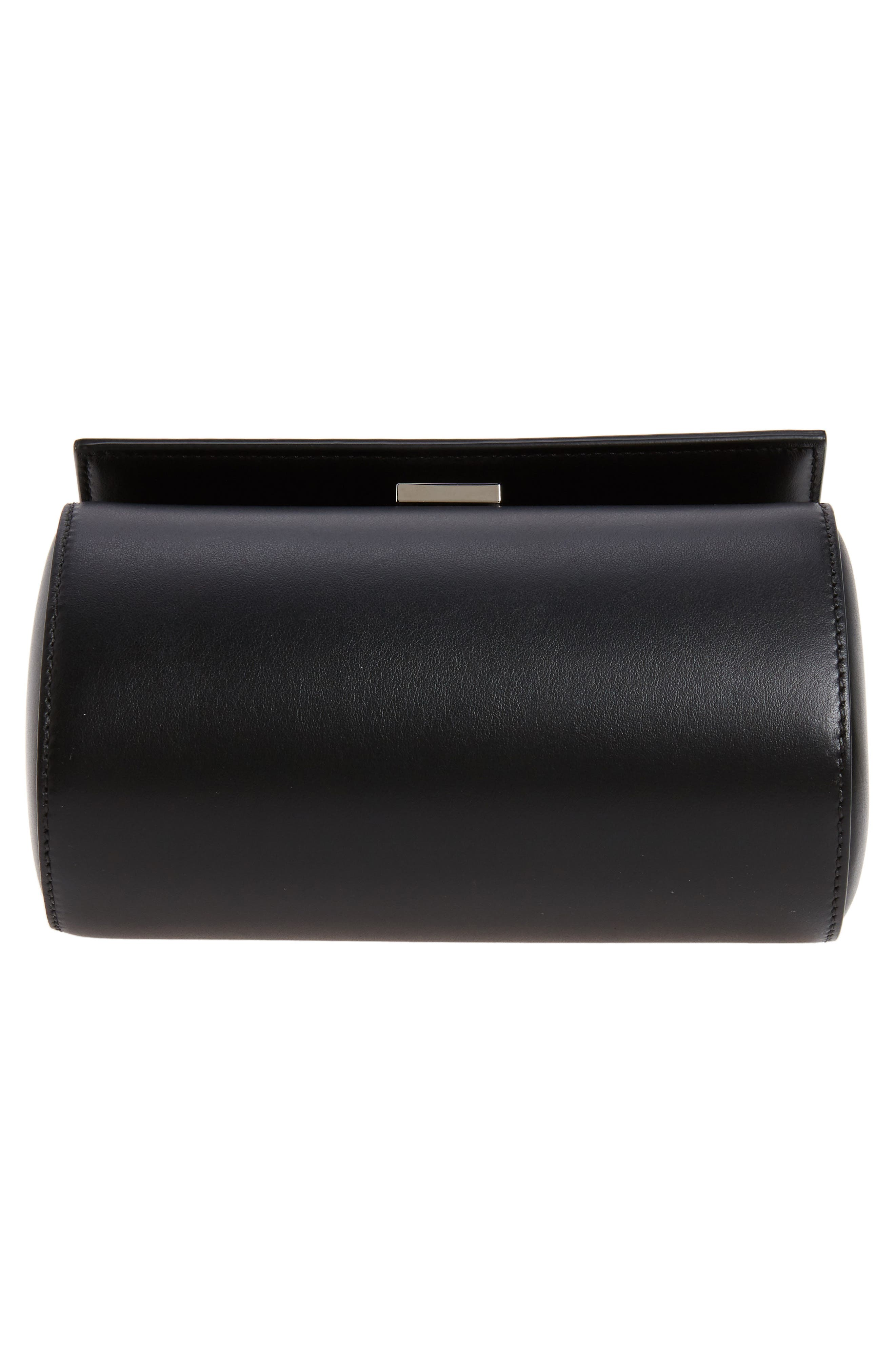 Mini Pandora Box Leather Shoulder Bag,                             Alternate thumbnail 7, color,                             001