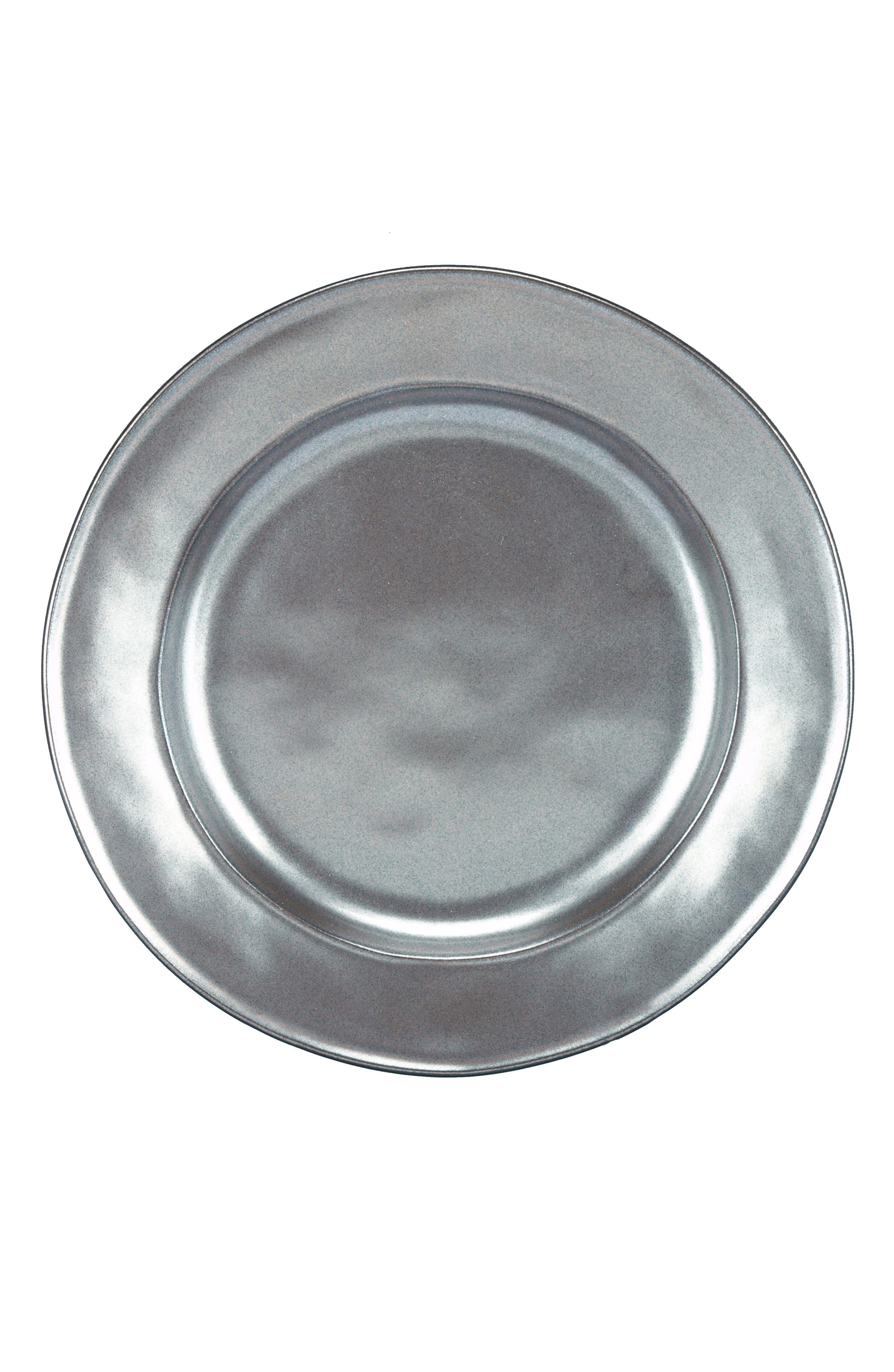 'Pewter' Ceramic Salad Plate,                             Alternate thumbnail 2, color,                             PEWTER