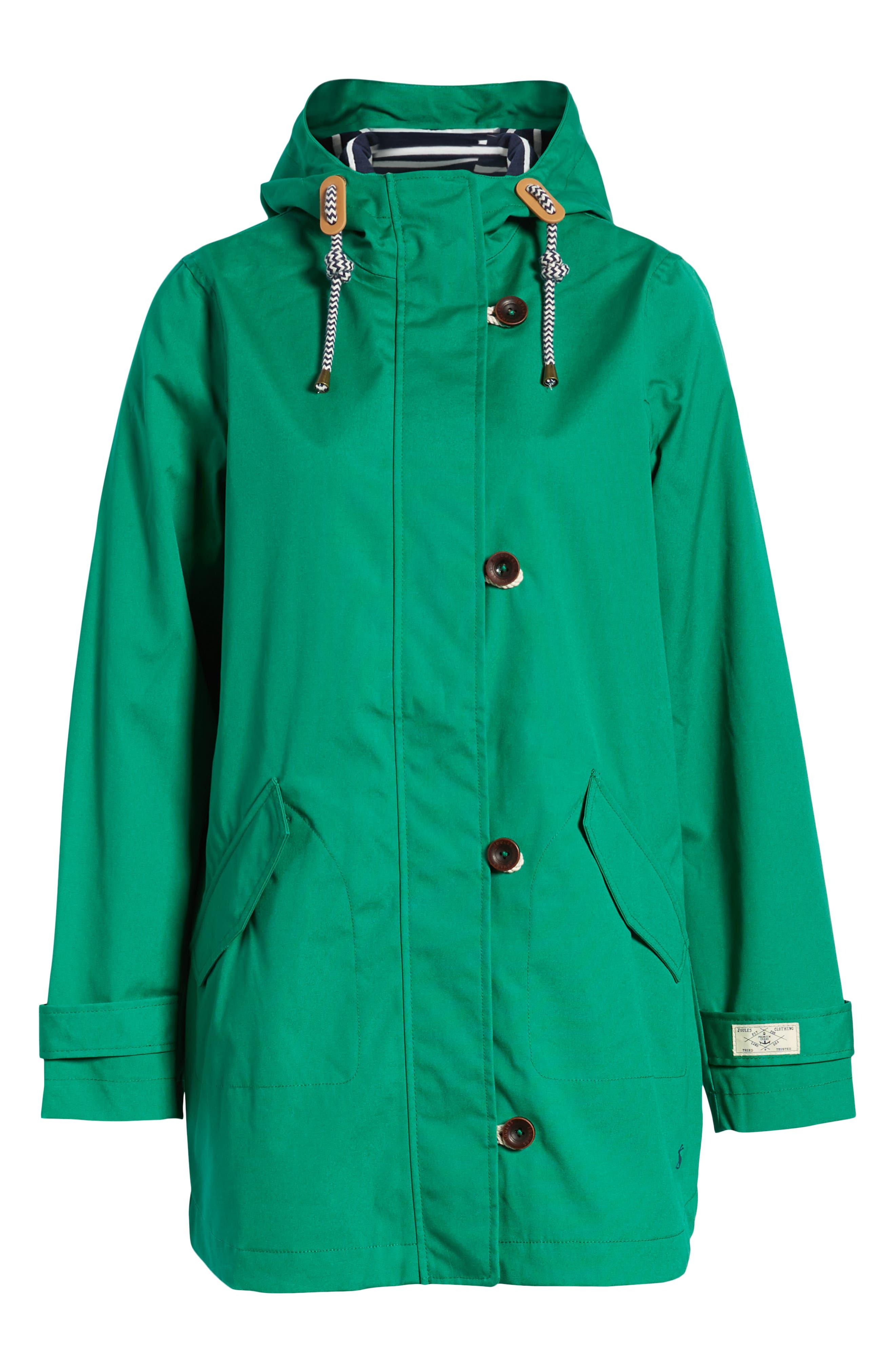 Coast Waterproof Hooded Jacket,                             Alternate thumbnail 5, color,                             GREEN