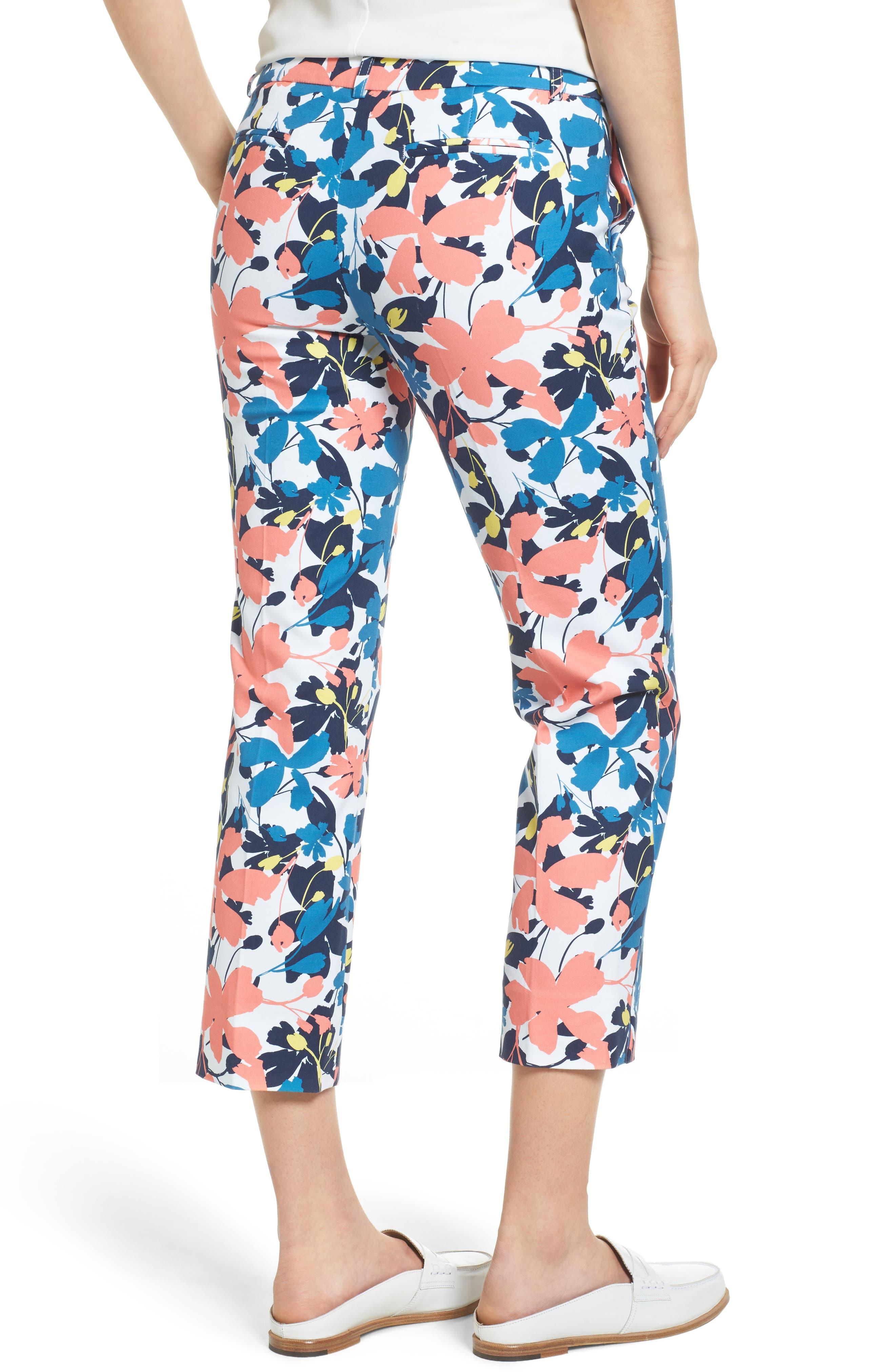 Crop Stretch Cotton Pants,                             Alternate thumbnail 30, color,