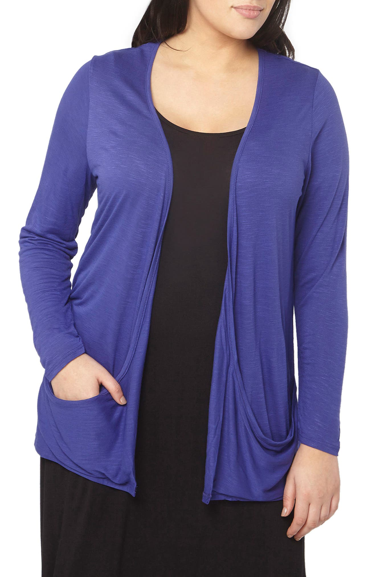 Drapey Pocket Cardigan,                         Main,                         color, 400