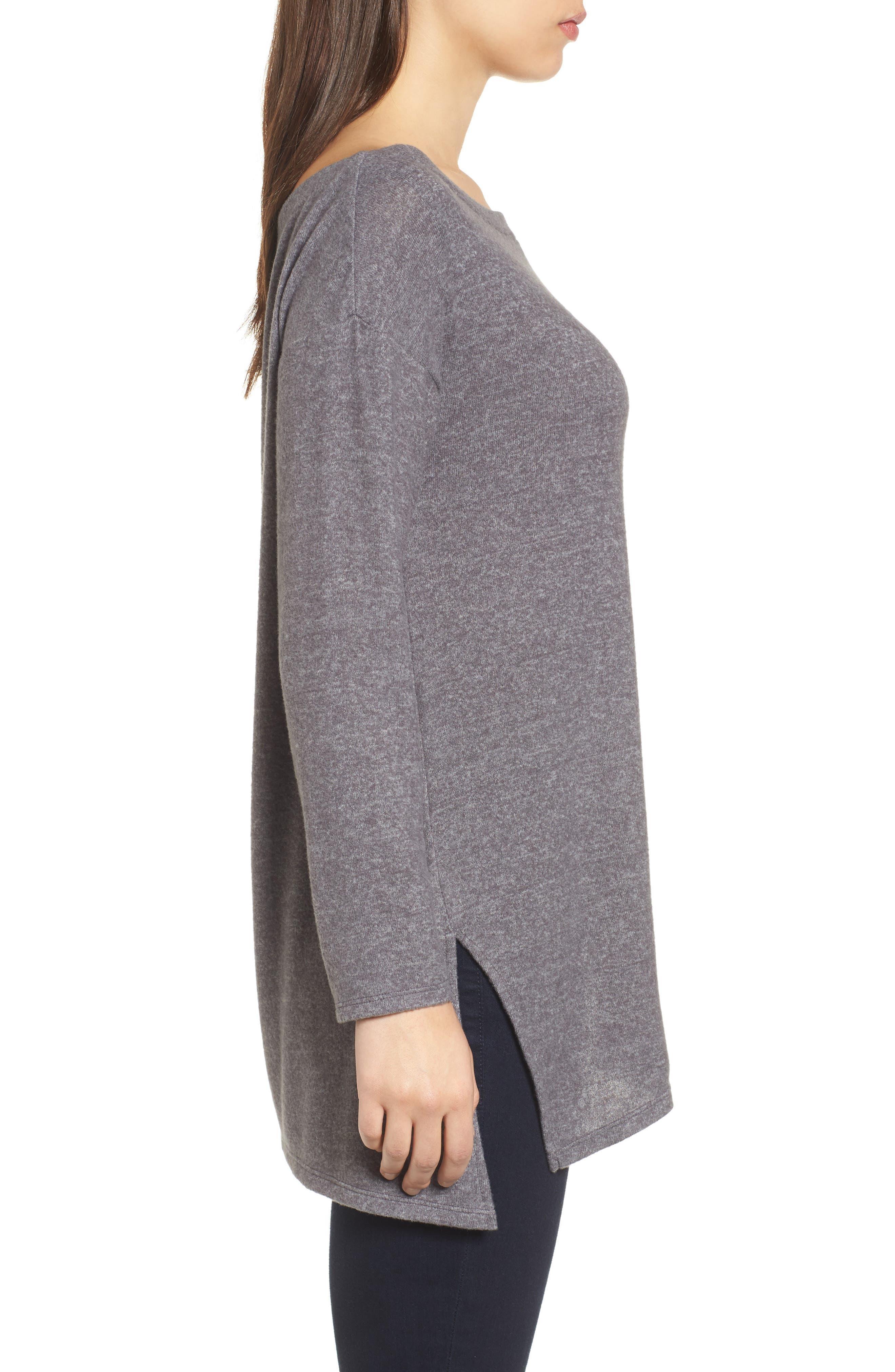 Asymmetrical Cozy Fleece Convertible Top,                             Alternate thumbnail 4, color,                             020