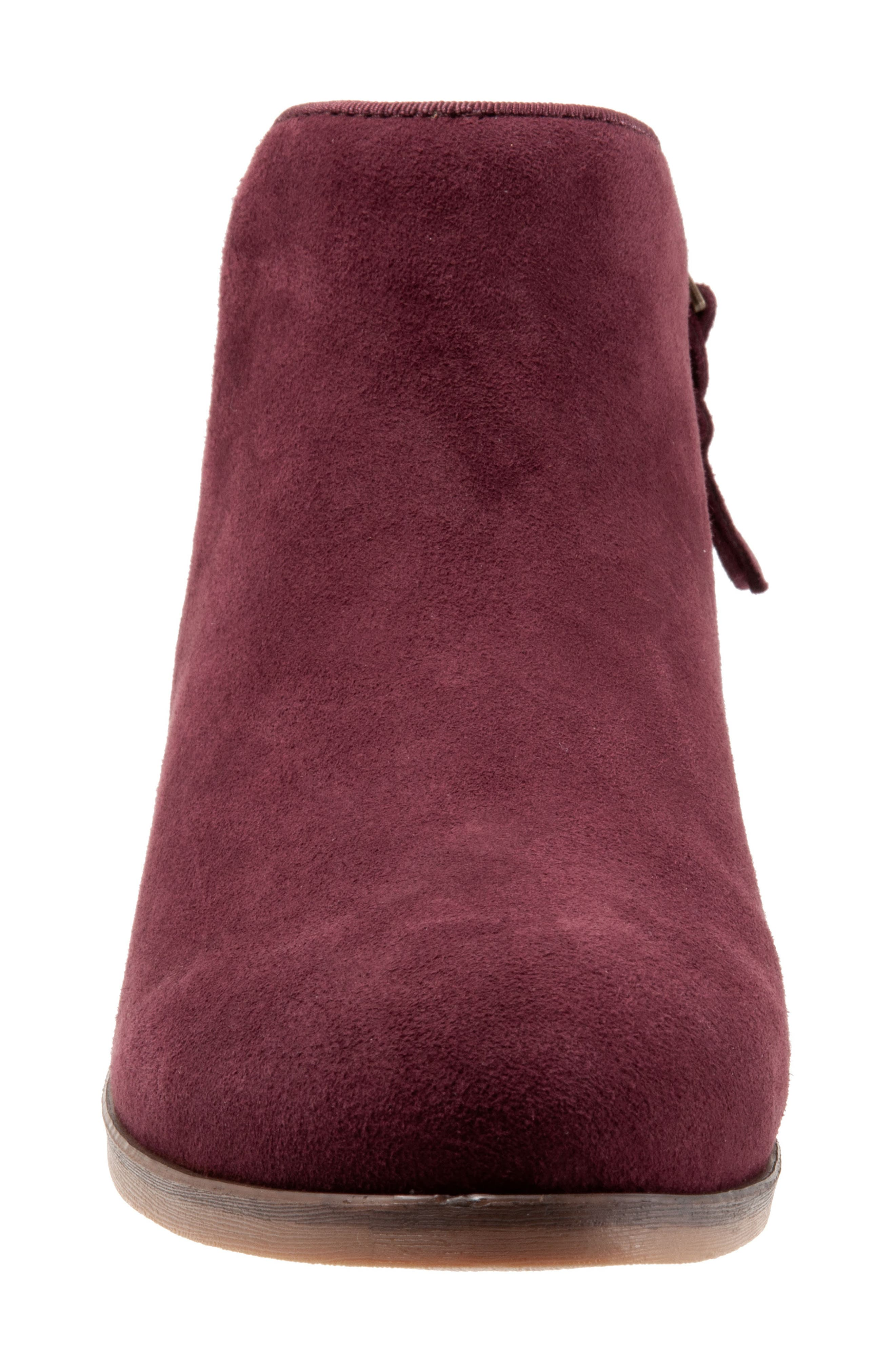 'Rocklin' Bootie,                             Alternate thumbnail 3, color,                             BURGUNDY LEATHER