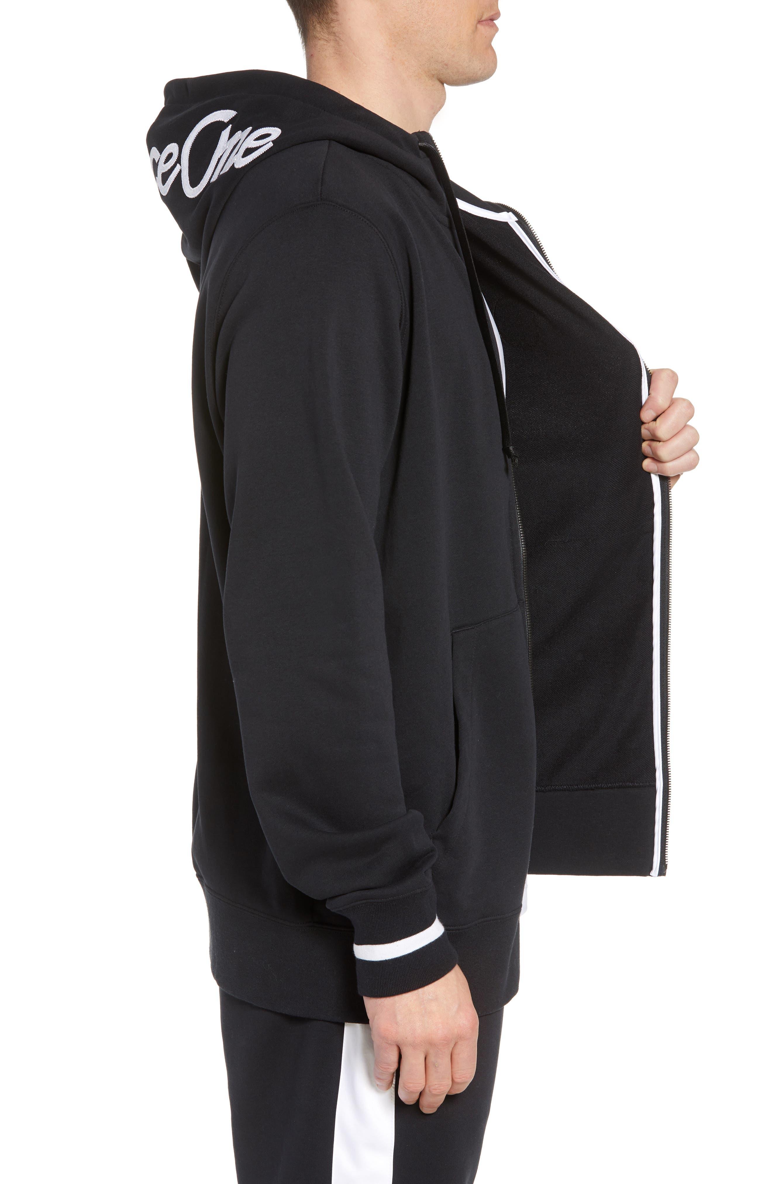 Sportswear Air Force 1 Full Zip Hoodie,                             Alternate thumbnail 3, color,                             010