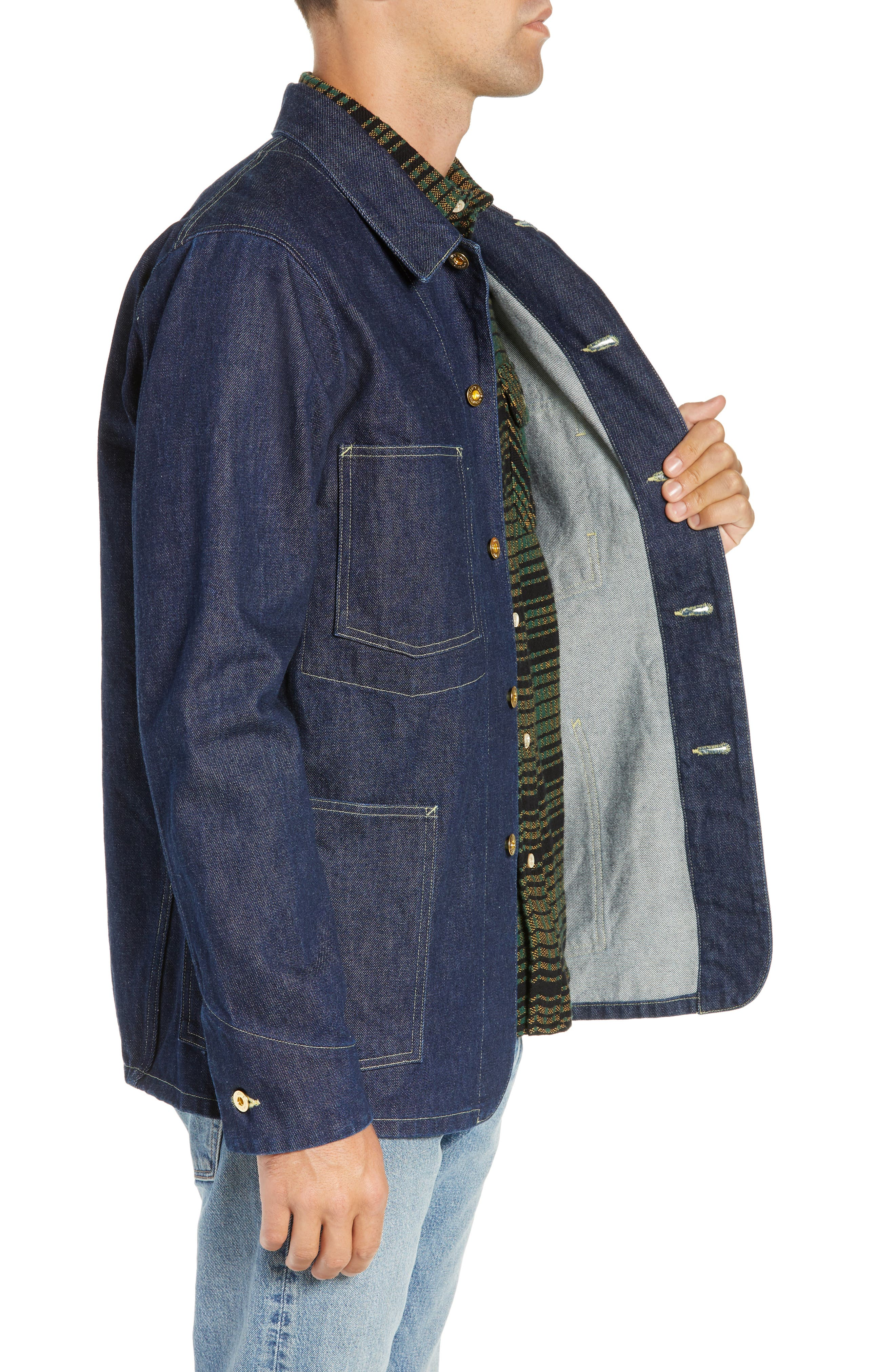 LEVI'S<SUP>®</SUP> MADE & CRAFTED<SUP>™</SUP>,                             Sat Denim Shirt Jacket,                             Alternate thumbnail 4, color,                             RINSE