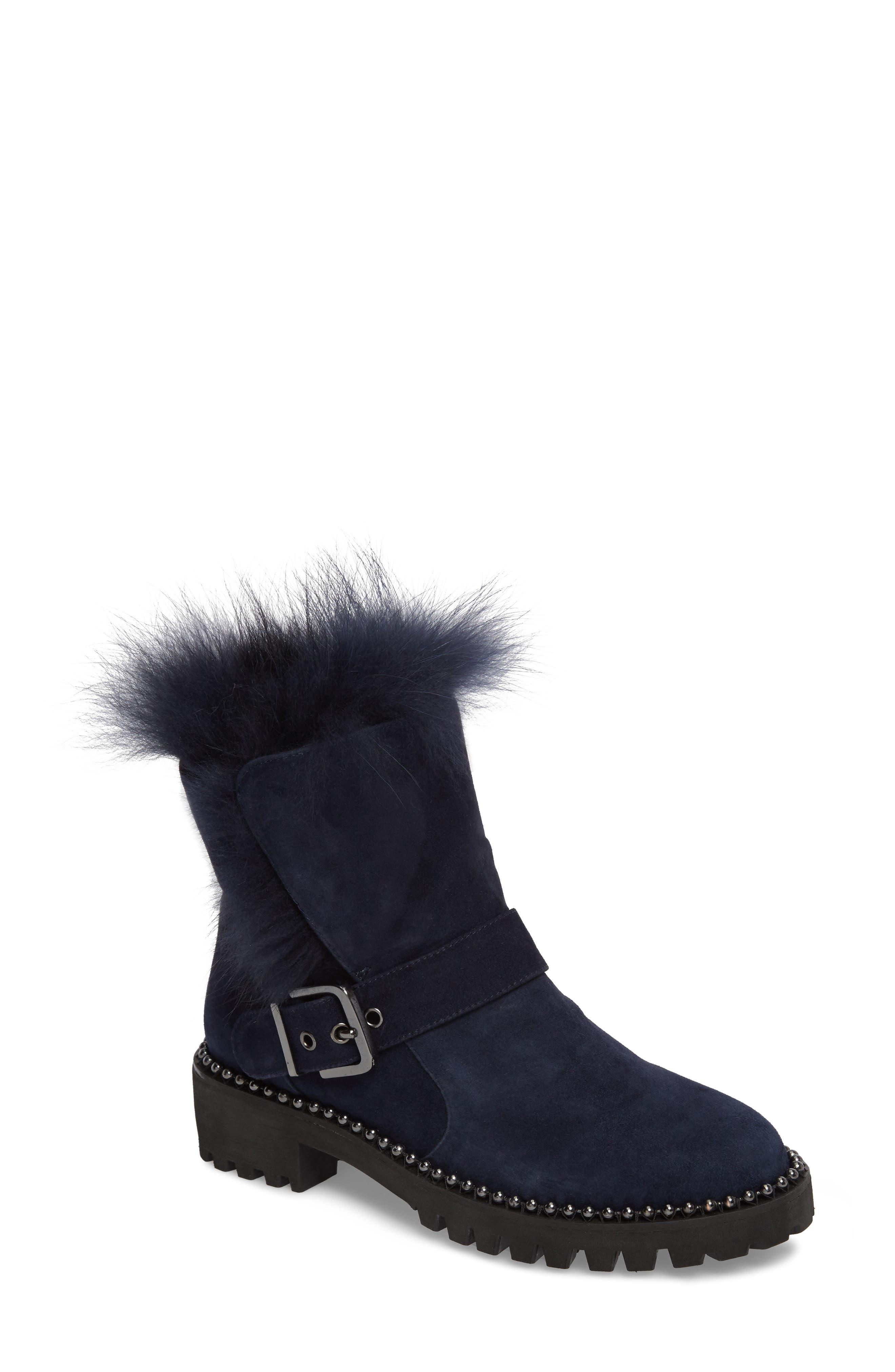 Theresa Boot with Genuine Fox Fur Trim,                             Main thumbnail 2, color,