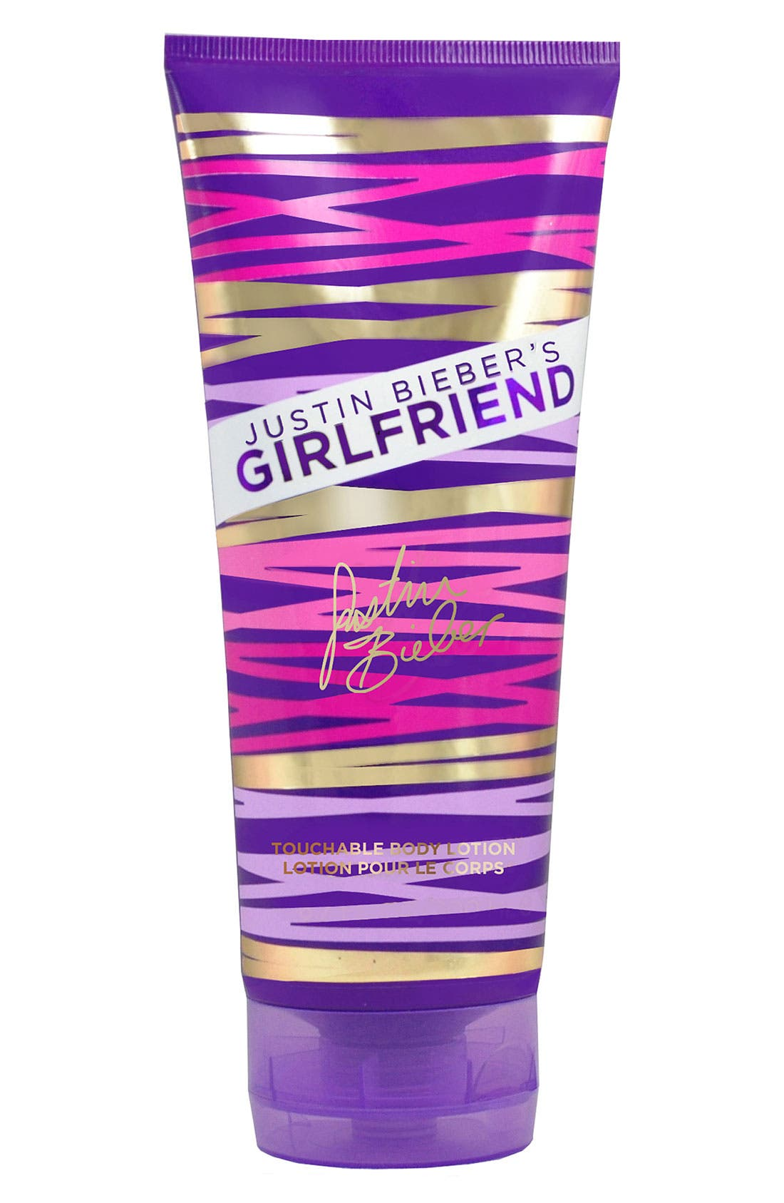 JUSTIN BIEBER,                             GIRLFRIEND by JUSTIN BIEBER Body Lotion,                             Main thumbnail 1, color,                             000