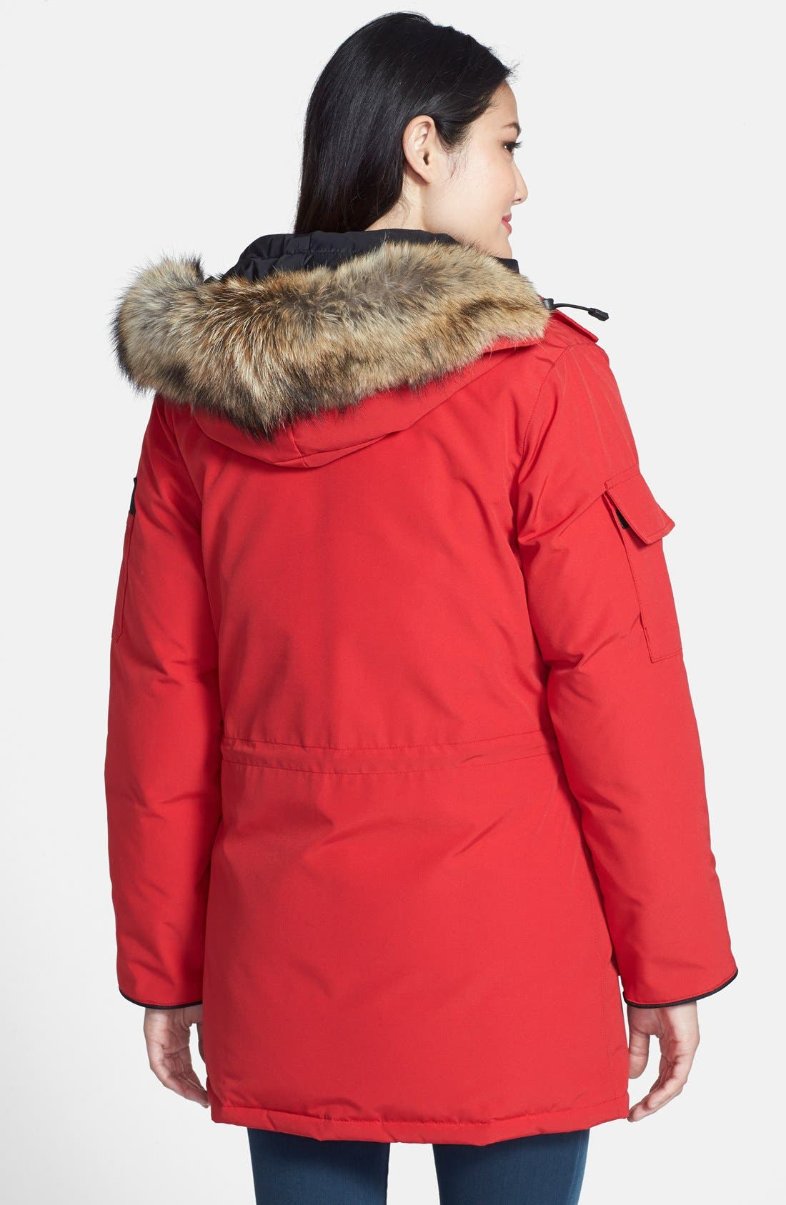 'Expedition' Relaxed Fit Down Parka with Genuine Coyote Fur,                             Alternate thumbnail 7, color,                             600