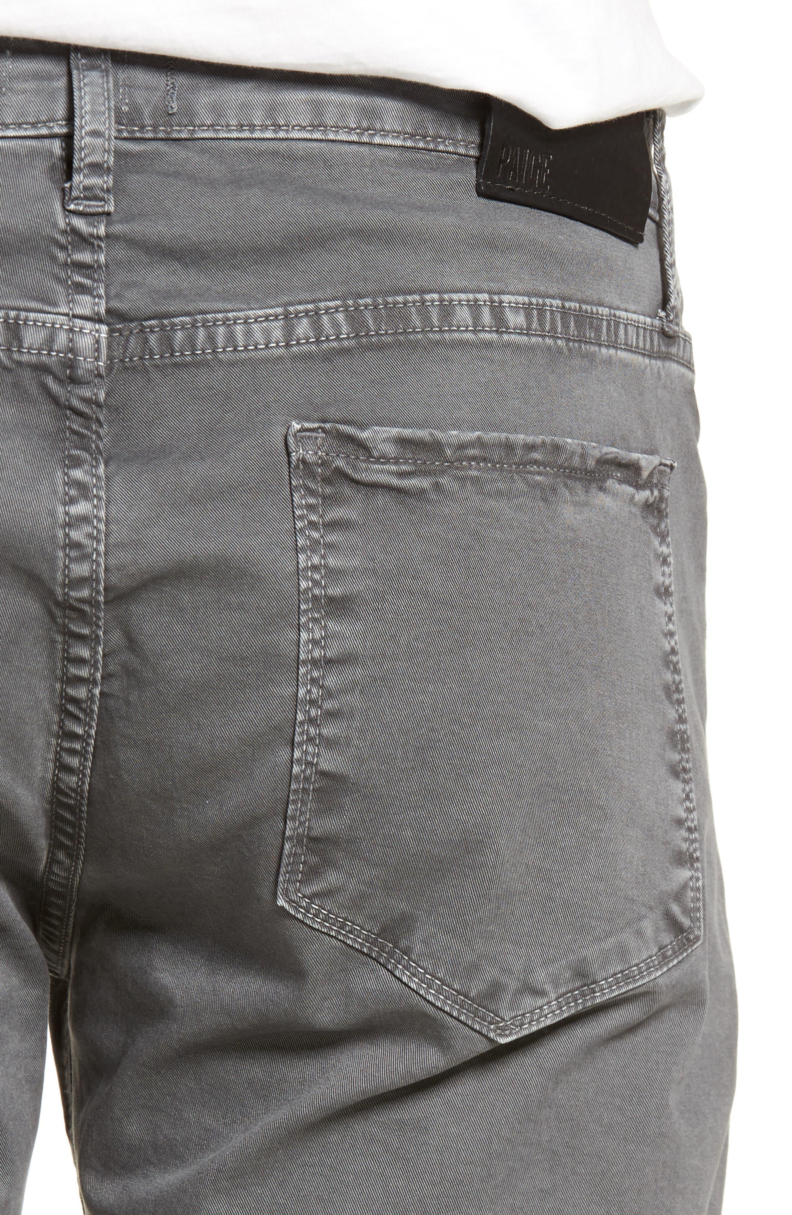 Lennox Slim Fit Five-Pocket Pants,                             Alternate thumbnail 4, color,                             VINTAGE THUNDER GREY