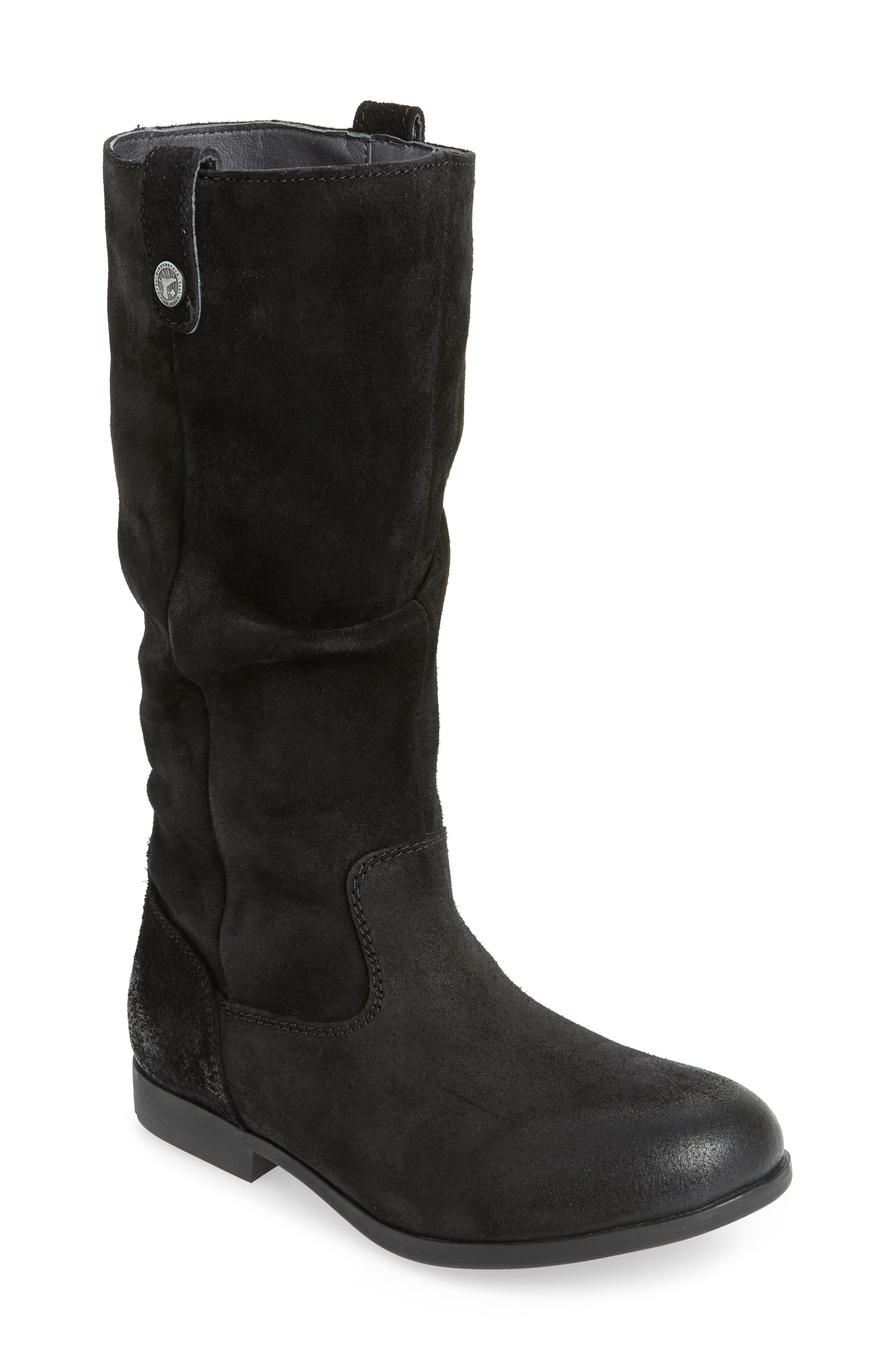 Sarnia High Boot, Main, color, BLACK LEATHER