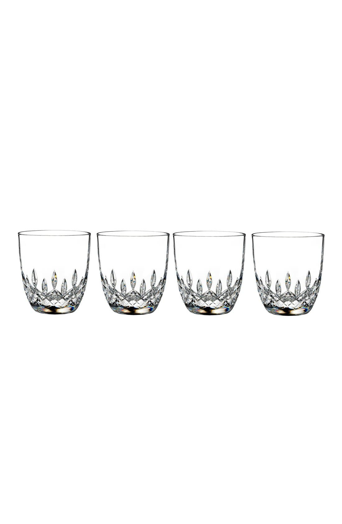 'Lismore Encore' Lead Crystal Double Old-Fashioned Glasses,                             Main thumbnail 1, color,