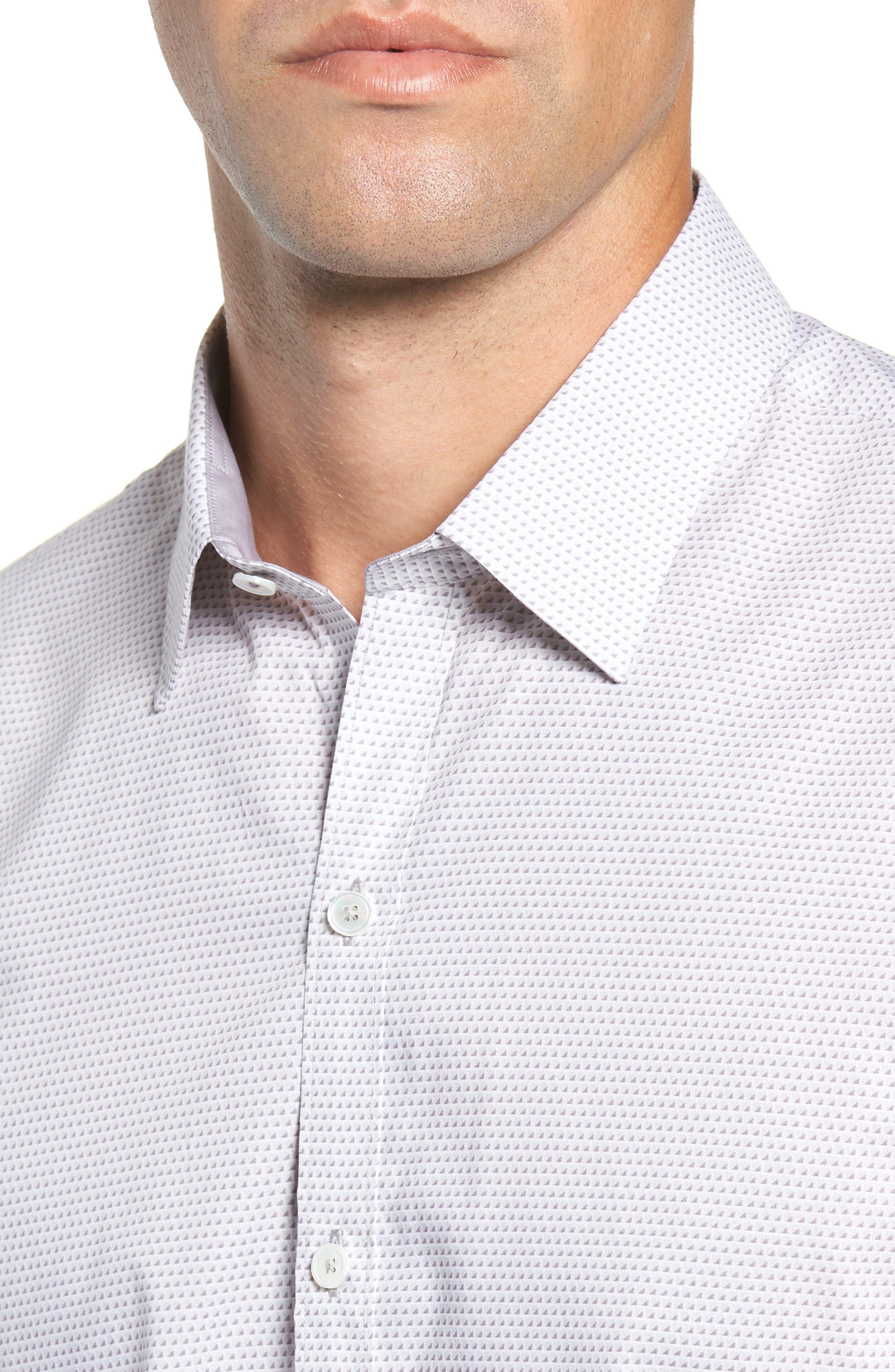 Toledo Regular Fit Microdot Sport Shirt,                             Alternate thumbnail 2, color,                             WHITE