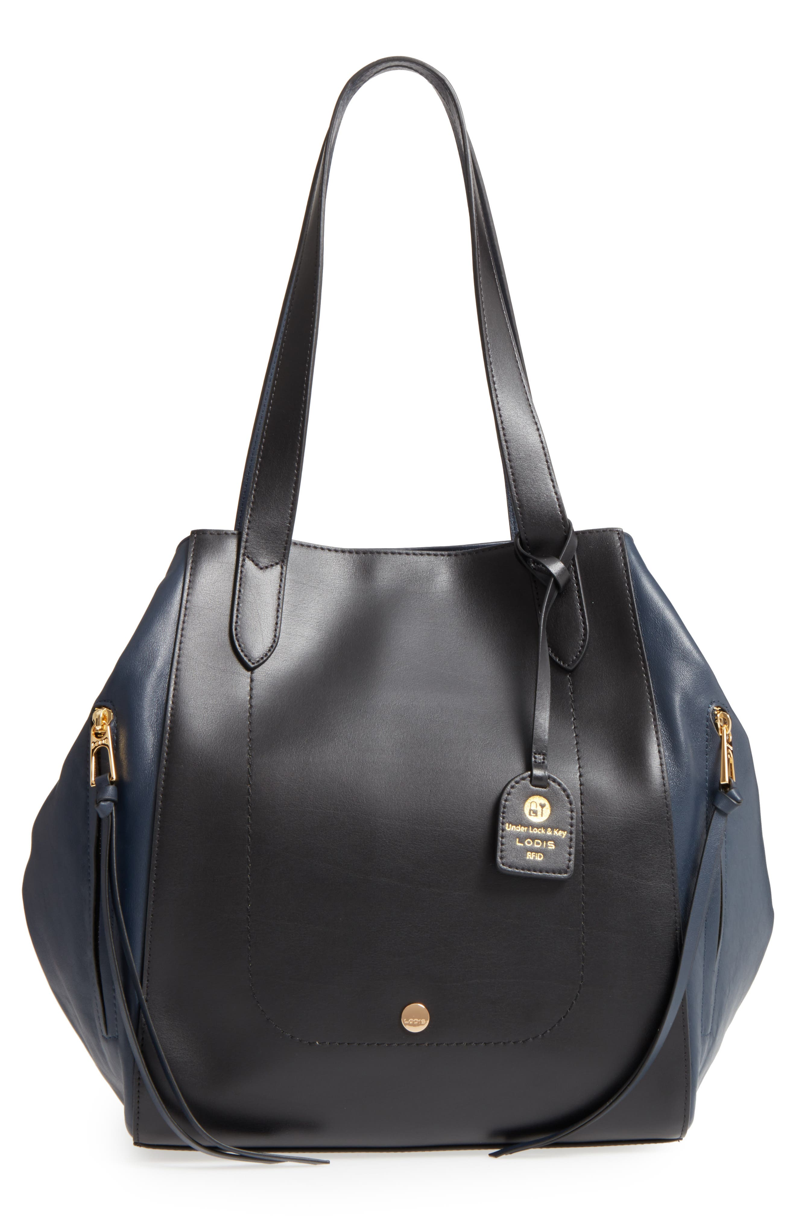 Downtown Charlize RFID Leather Tote,                             Main thumbnail 2, color,