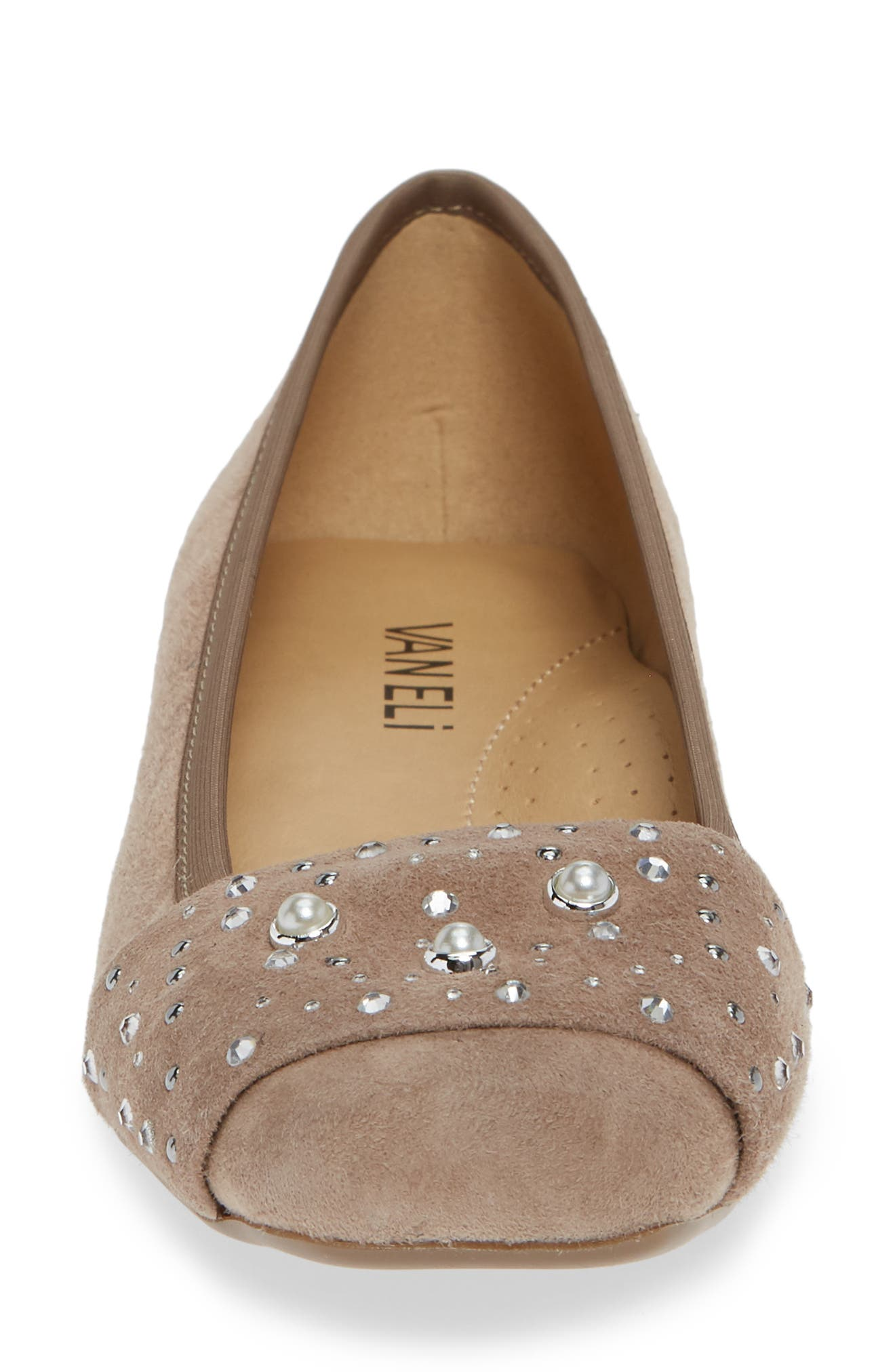 Nasim Flat,                             Alternate thumbnail 4, color,                             TRUFFLE SUEDE