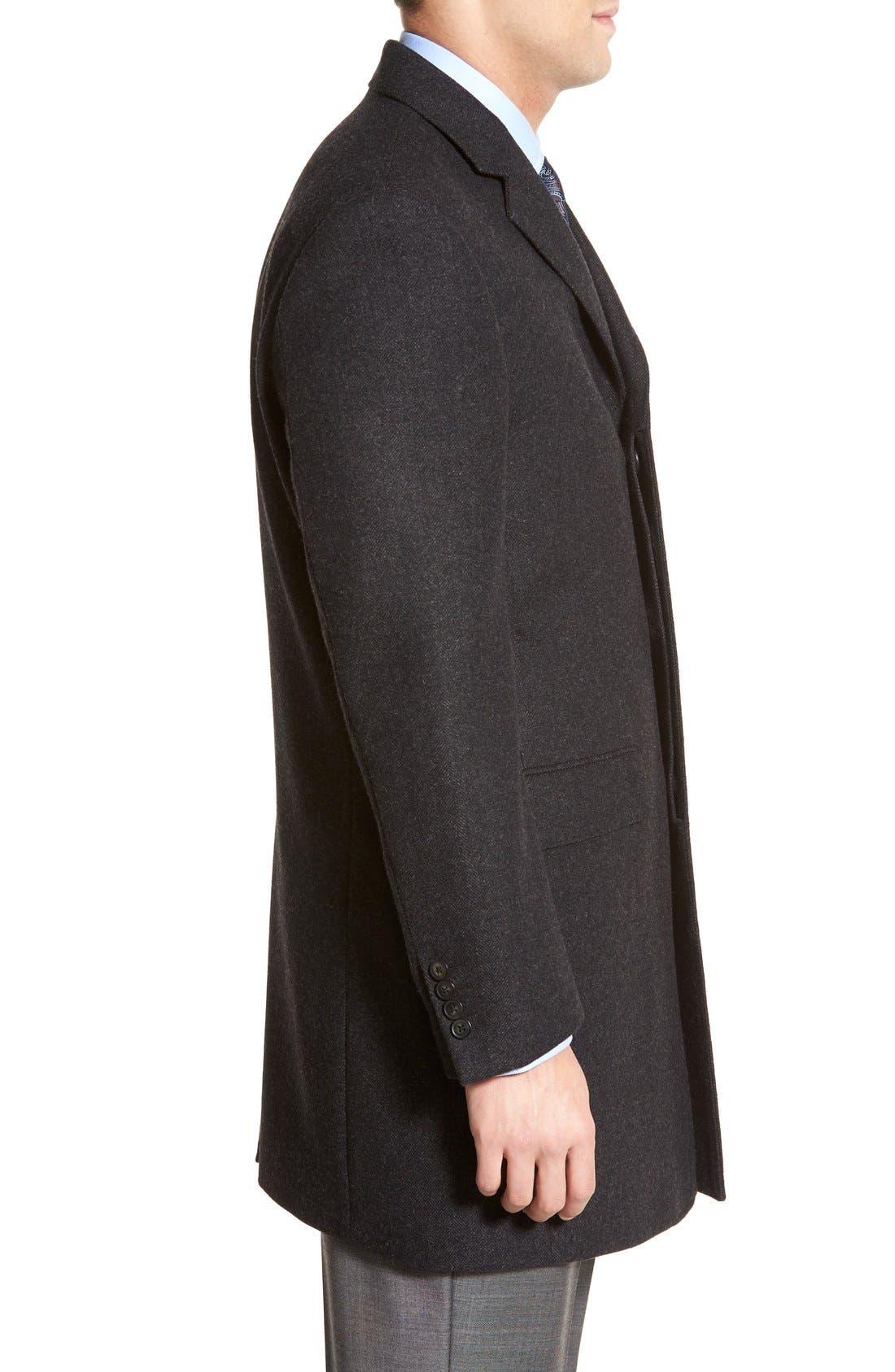 Maitland Modern Fit Wool Blend Overcoat,                             Alternate thumbnail 4, color,                             035