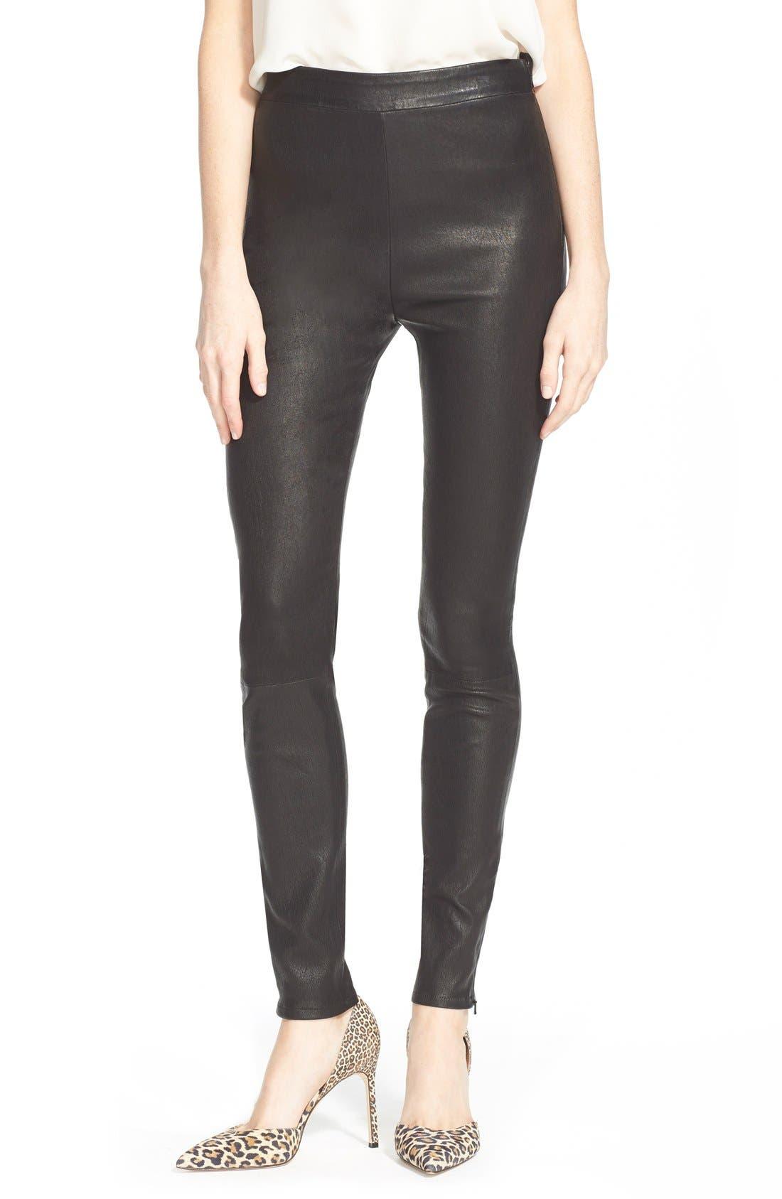 FRAME Denim 'Le Legging' Leather Leggings, Main, color, 001