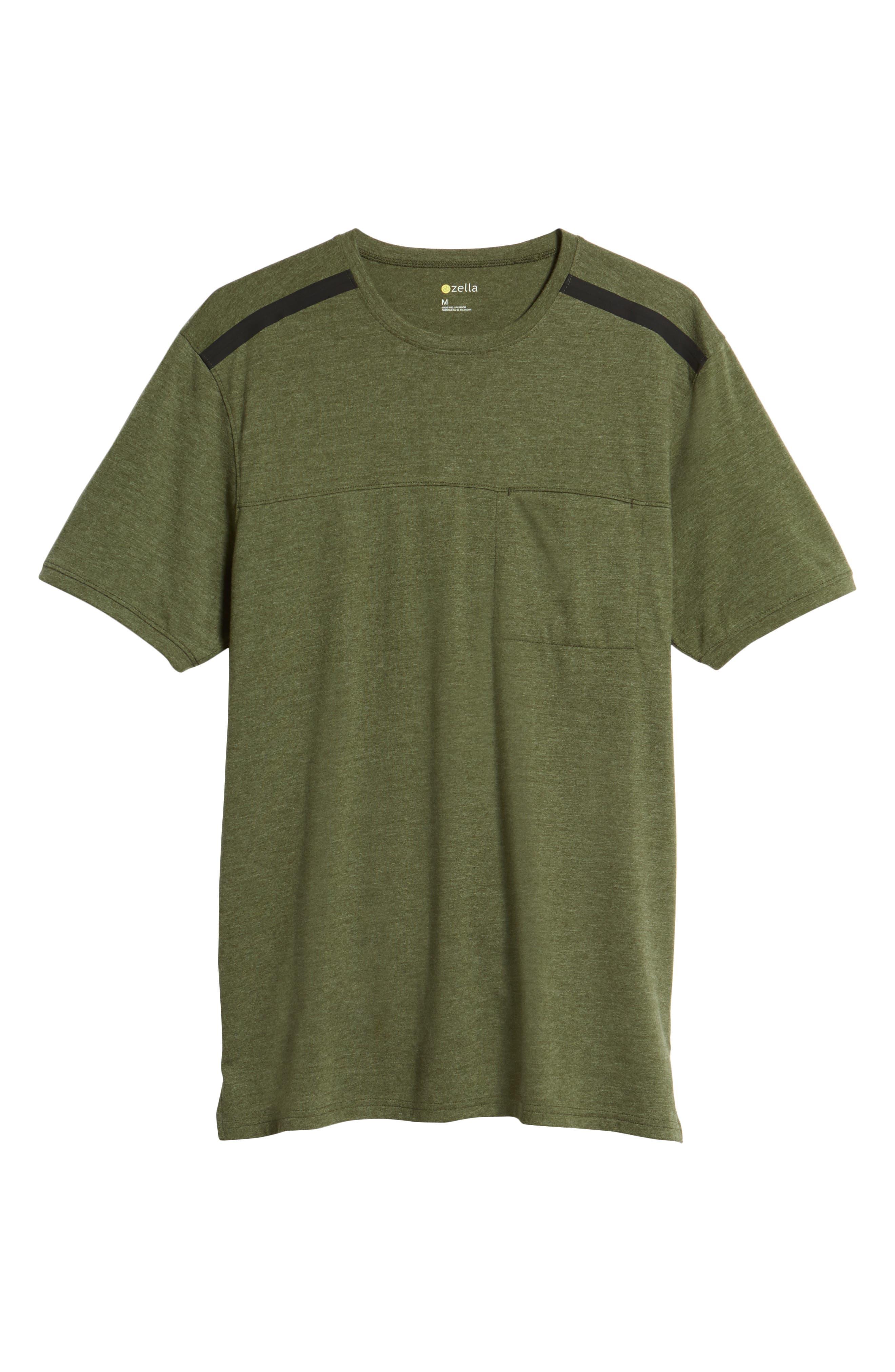 Perfomance T-Shirt,                             Alternate thumbnail 6, color,                             GREEN TACTICAL MELANGE