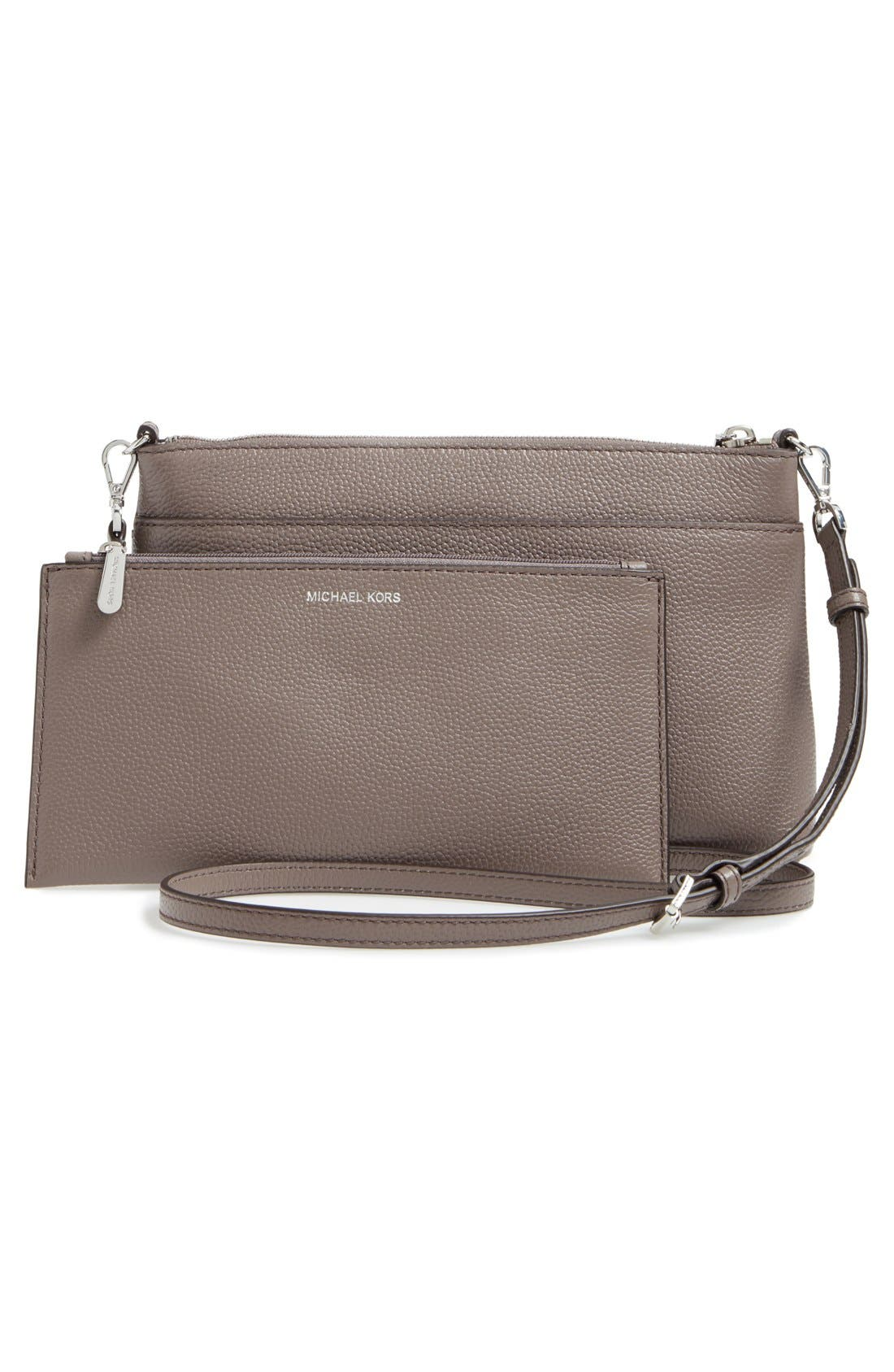 Large Mercer Leather Crossbody Bag,                             Alternate thumbnail 6, color,                             513