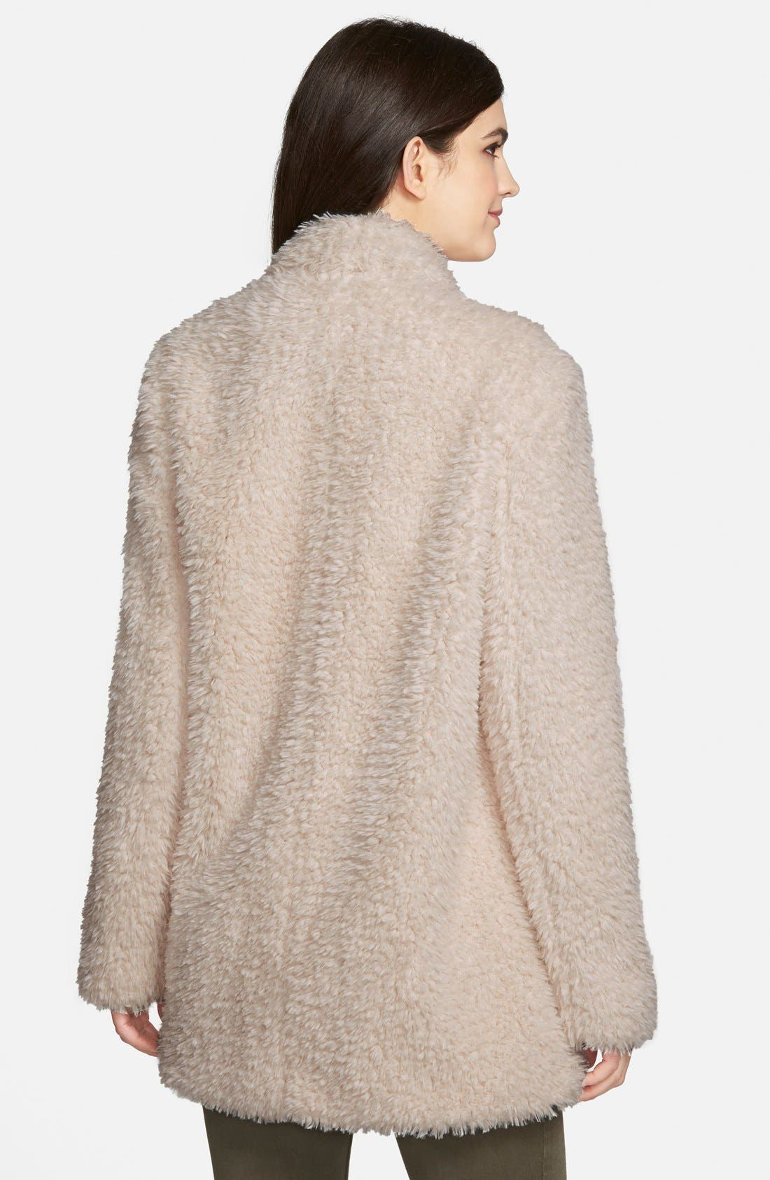 'Teddy Bear' Faux Fur Clutch Coat,                             Alternate thumbnail 11, color,