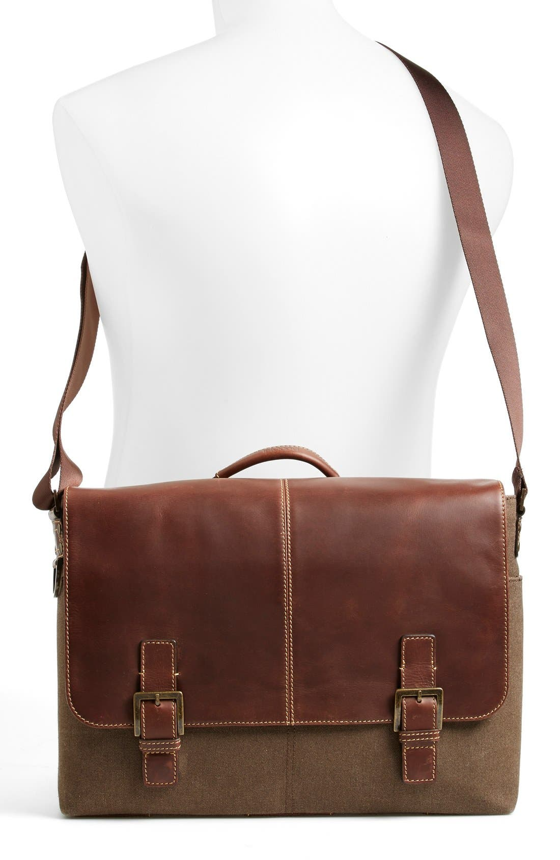 'Bryant' Messenger Bag,                             Alternate thumbnail 2, color,                             HEATHER BROWN