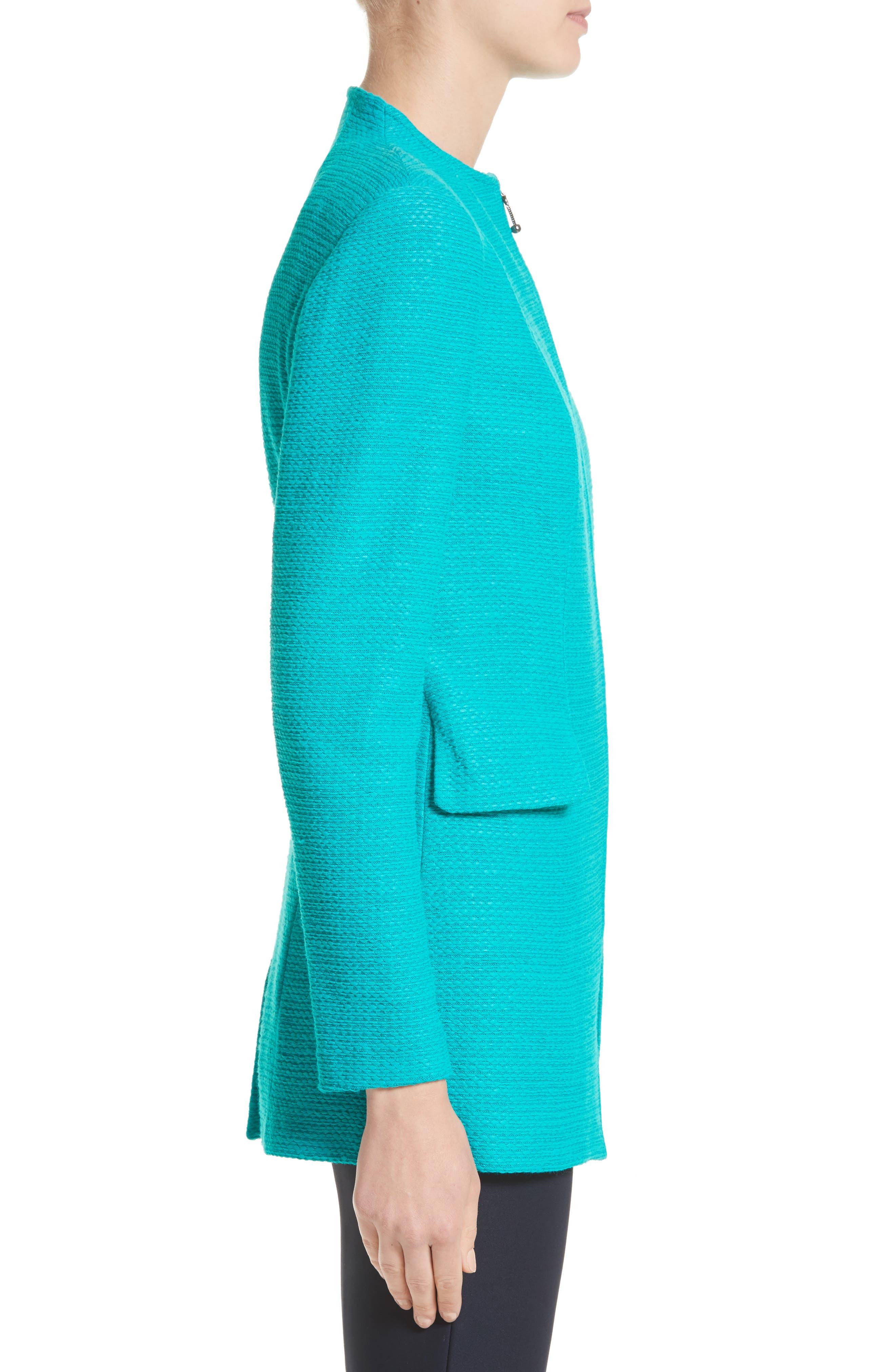 Sheen Tape Knit Jacket,                             Alternate thumbnail 3, color,                             440